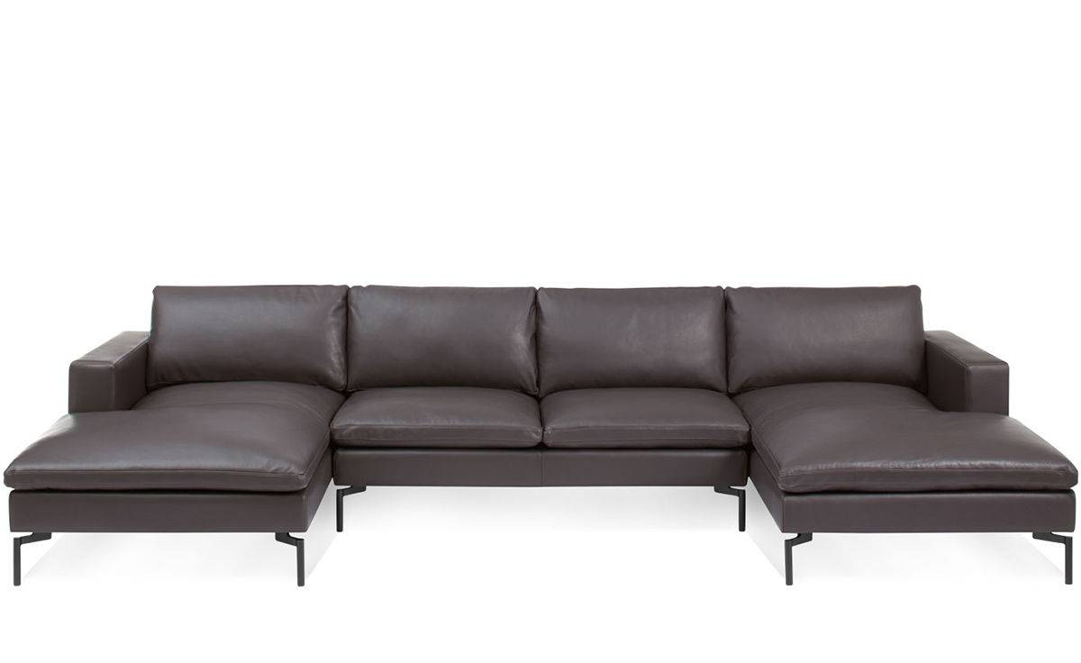 New Standard U Shaped Leather Sectional Sofa - Hivemodern inside U Shaped Leather Sectional Sofa (Image 18 of 25)