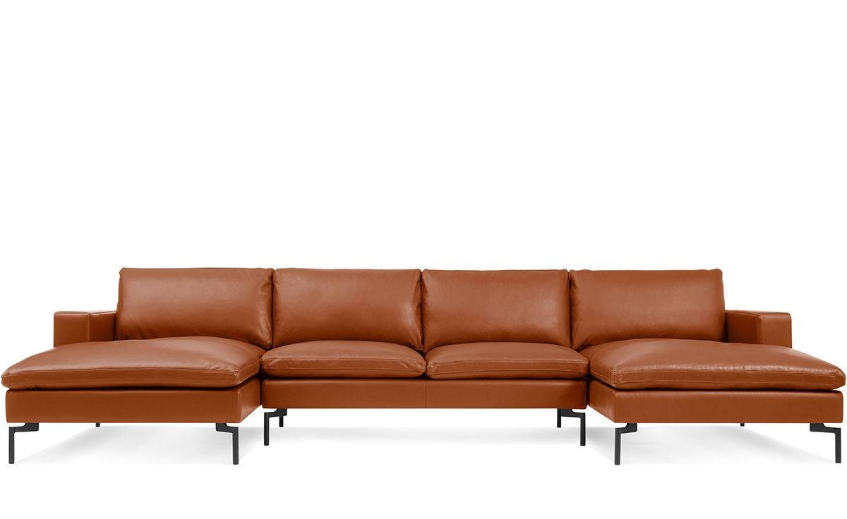 New Standard U Shaped Leather Sectional Sofa - Hivemodern with U Shaped Leather Sectional Sofa (Image 19 of 25)