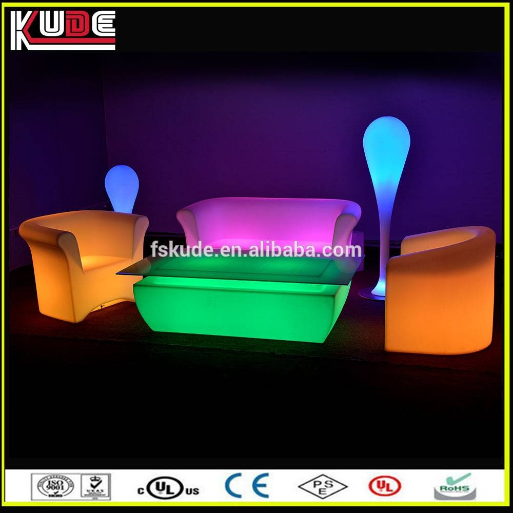 New Stylish Sofa Set Led Coffee Table/led Glowing Furniture for Led Coffee Tables (Image 20 of 30)