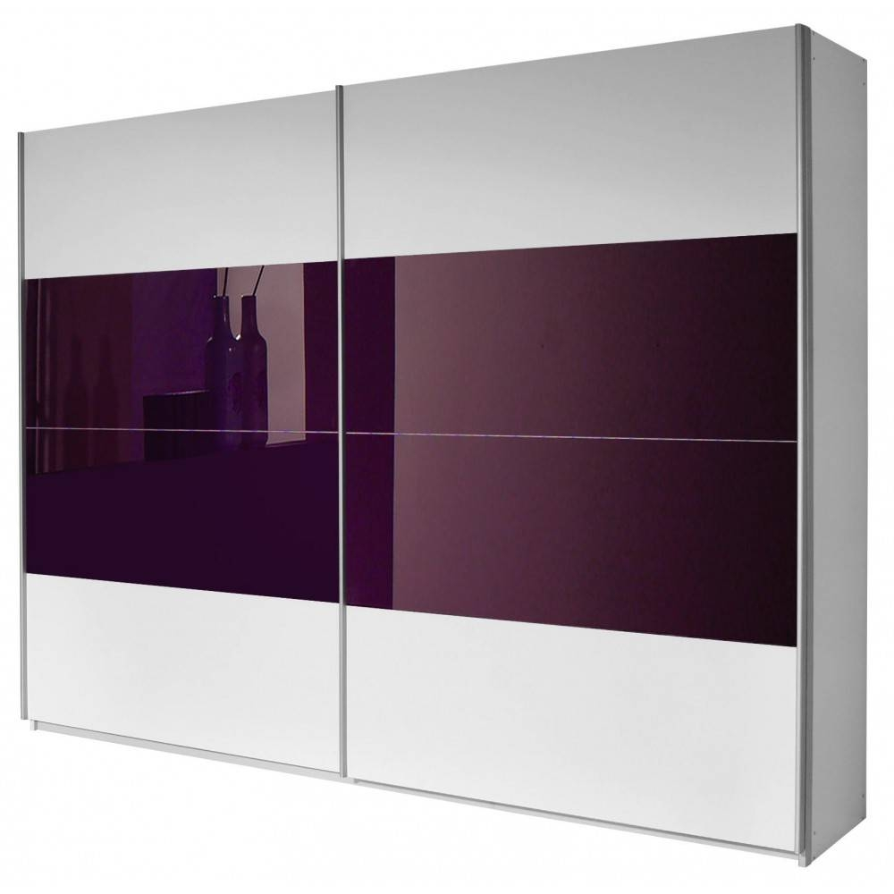 New York Sliding Door Wardrobe Purple And White. Free Standing in White Gloss Sliding Wardrobes (Image 11 of 15)