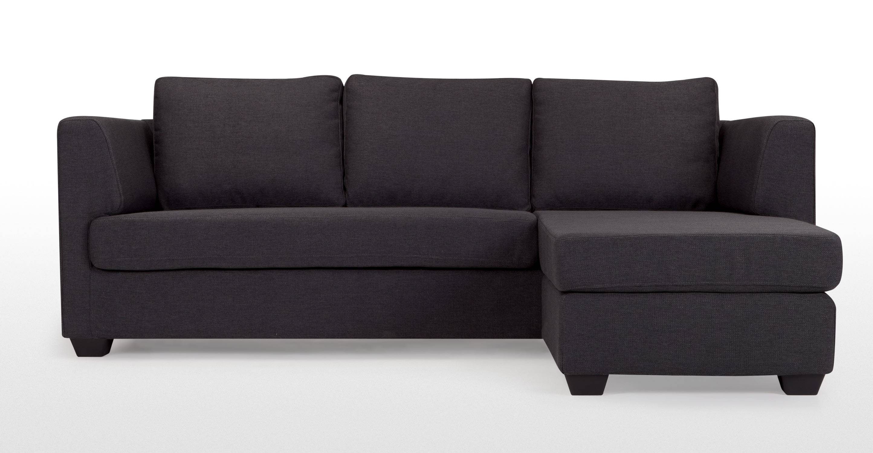 Newark Charcoal Grey Corner Sofa | Made within Charcoal Grey Sofas (Image 18 of 30)