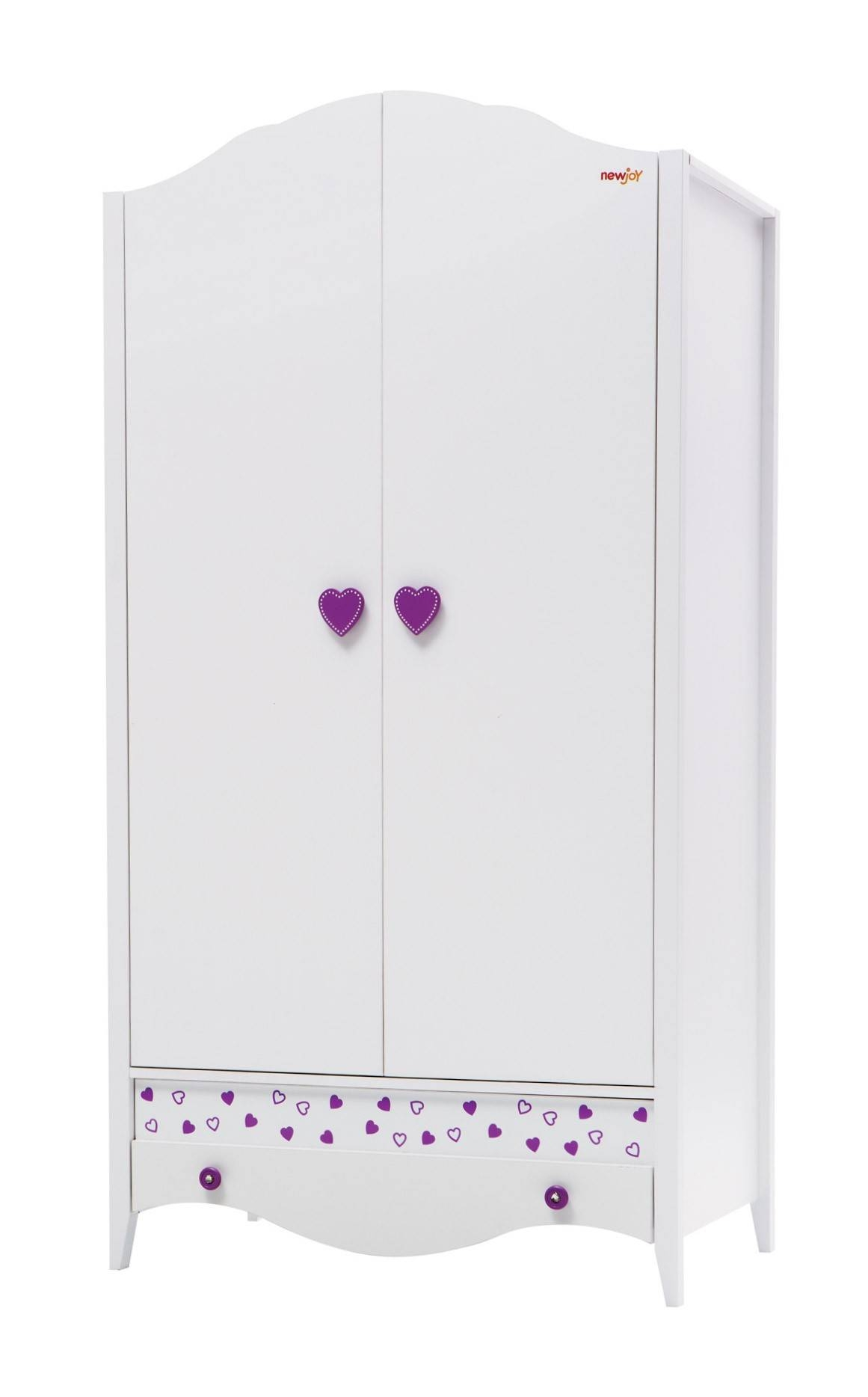 Newjoy Princess Children's 2 Door Wardrobe in Princess Wardrobes (Image 5 of 15)