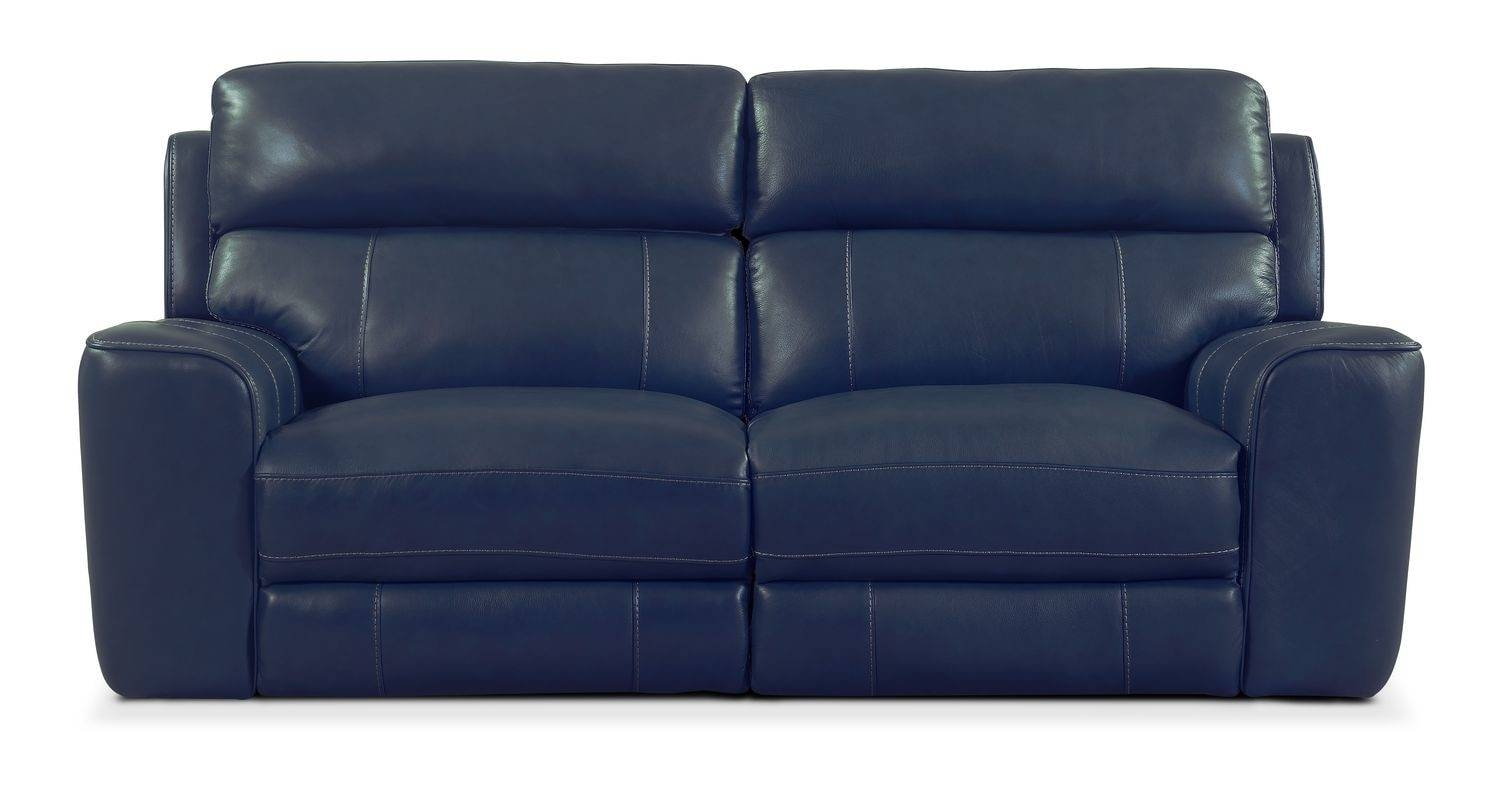 Newport 2-Piece Power Reclining Sofa - Blue | Value City Furniture in Newport Sofas (Image 12 of 30)