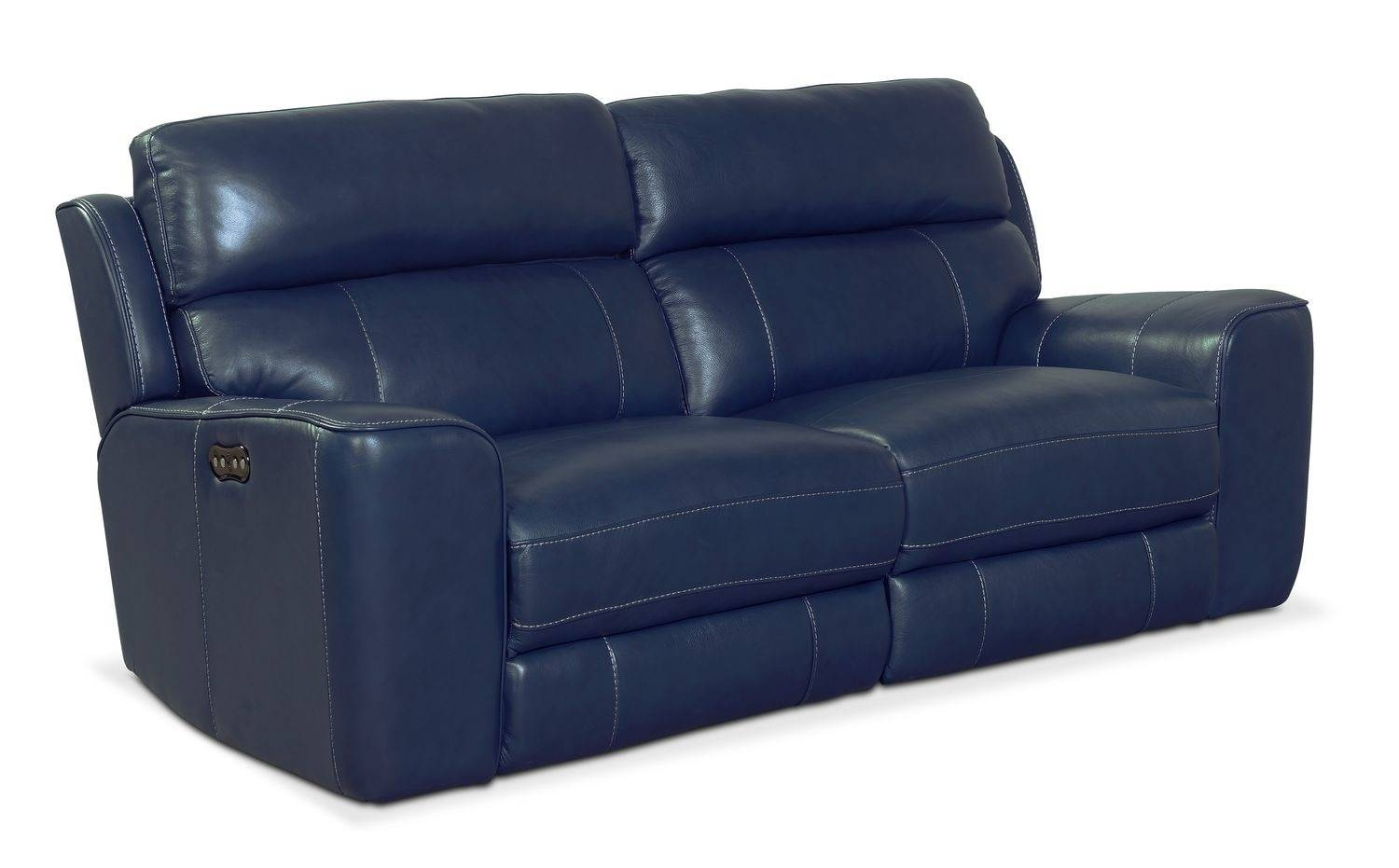 Newport 2-Piece Power Reclining Sofa - Blue | Value City Furniture with regard to Newport Sofas (Image 13 of 30)