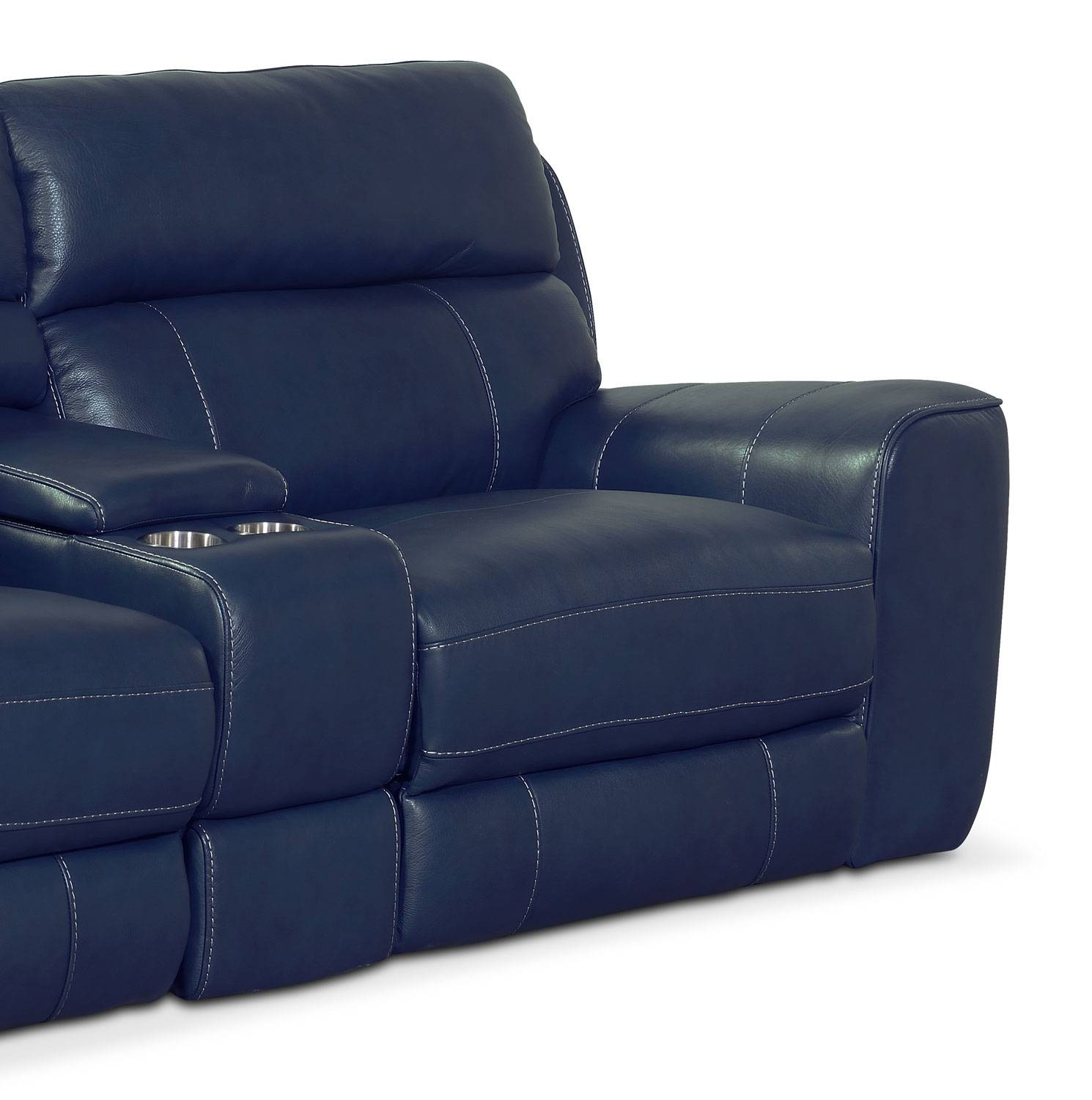 Newport 3-Piece Power Reclining Sofa - Blue | American Signature inside Newport Sofas (Image 14 of 30)