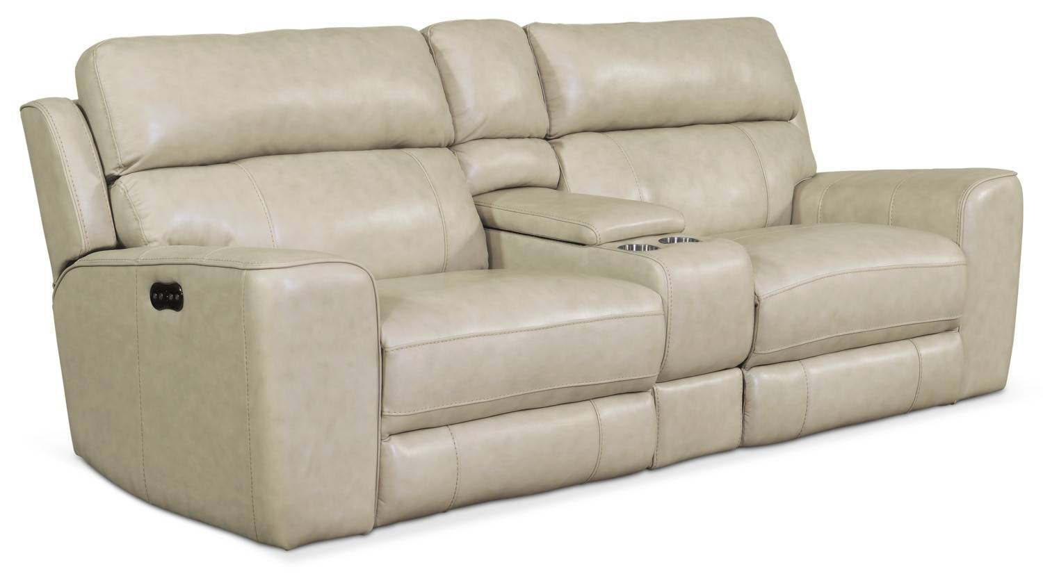 Newport 3-Piece Power Reclining Sofa - Cream | American Signature for Newport Sofas (Image 15 of 30)