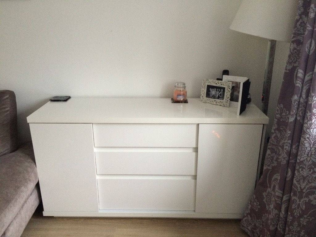 Next White Gloss Sideboard | In Wareham, Dorset | Gumtree with regard to White Gloss Sideboards (Image 18 of 30)