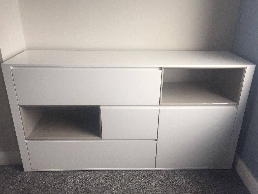 Next White High Gloss Sideboard, Really Good Condition | In North for White High Gloss Sideboards (Image 20 of 30)