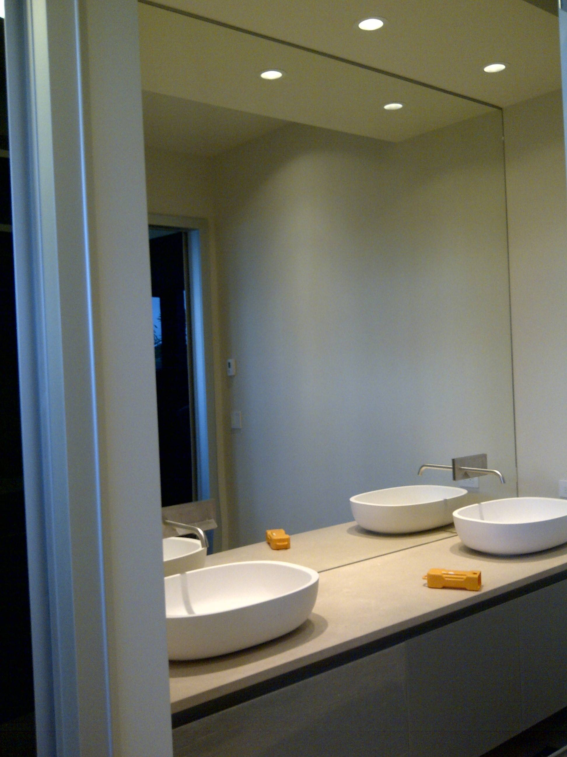 Nice Design Ideas Mirror Wall Bathroom Wall Mirrors For Bathrooms in Frameless Large Wall Mirrors (Image 21 of 25)