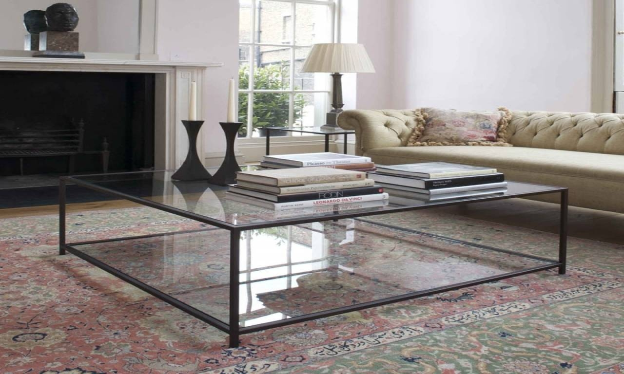 Nice Square Glass Coffee Table For Living Room – End Tables inside Large Square Glass Coffee Tables (Image 23 of 30)