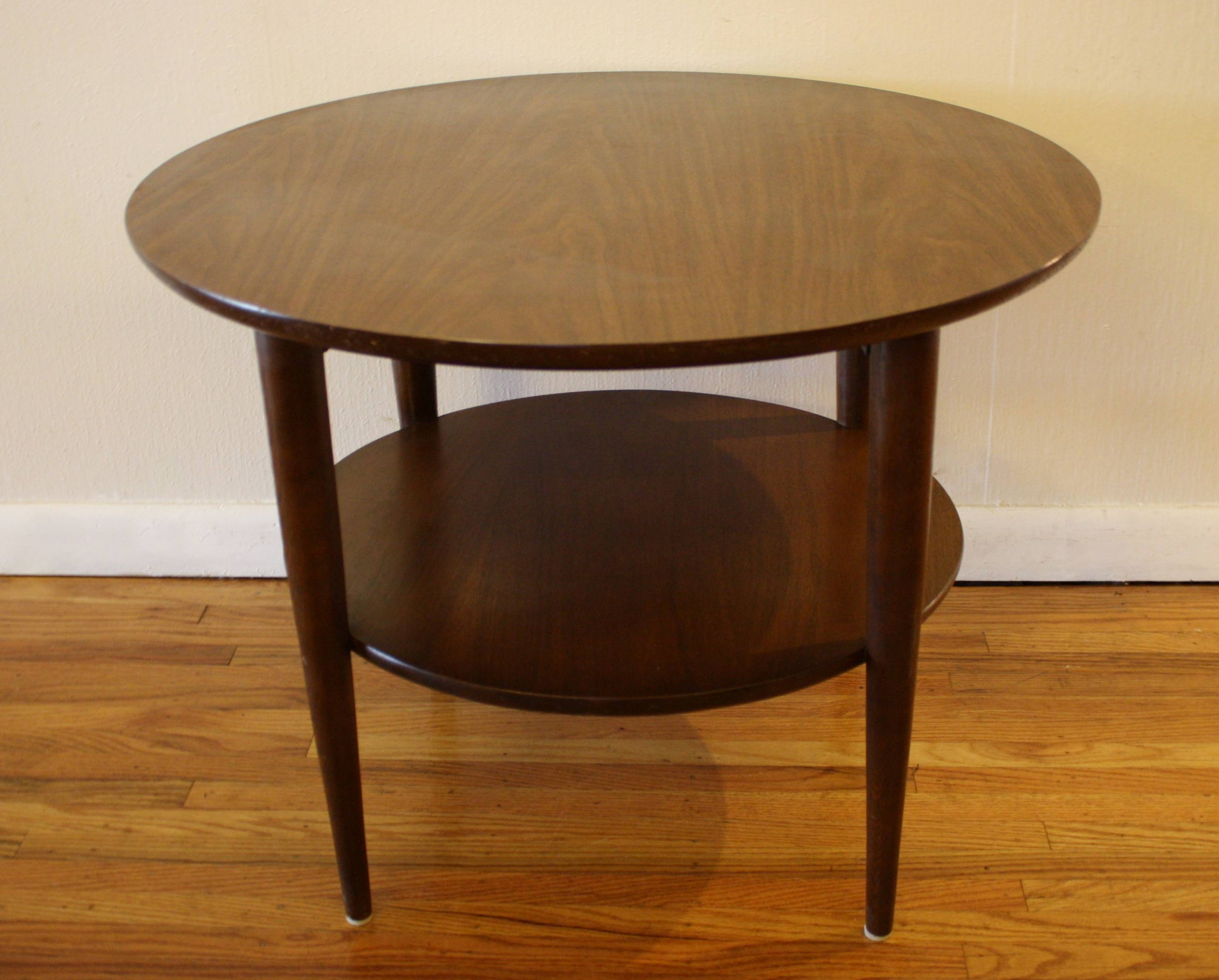 Night Stands Maison Noblesse Round Night Table ~ Bacill inside Rounded Corner Coffee Tables (Image 17 of 30)