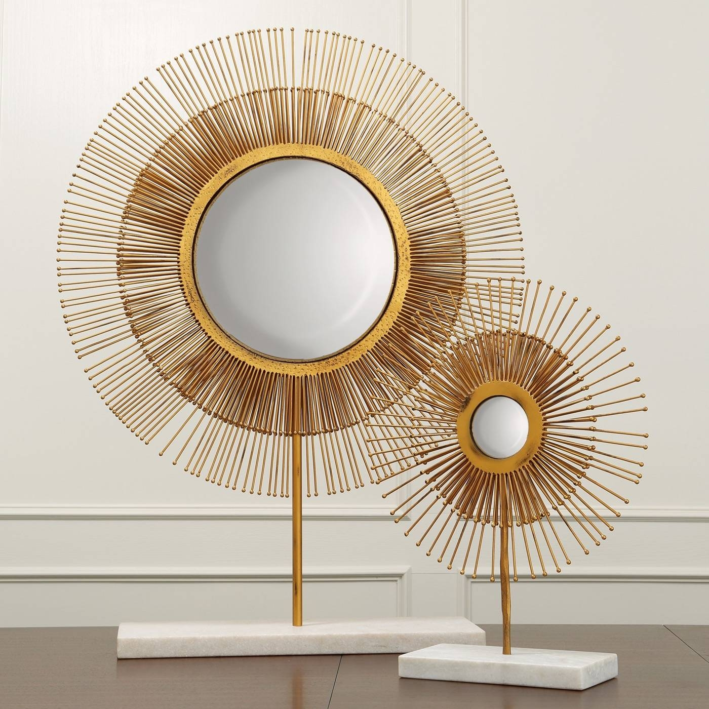 Nimbus Starburst Table Mirrors | Gold | Plantation inside Gold Table Mirrors (Image 17 of 25)