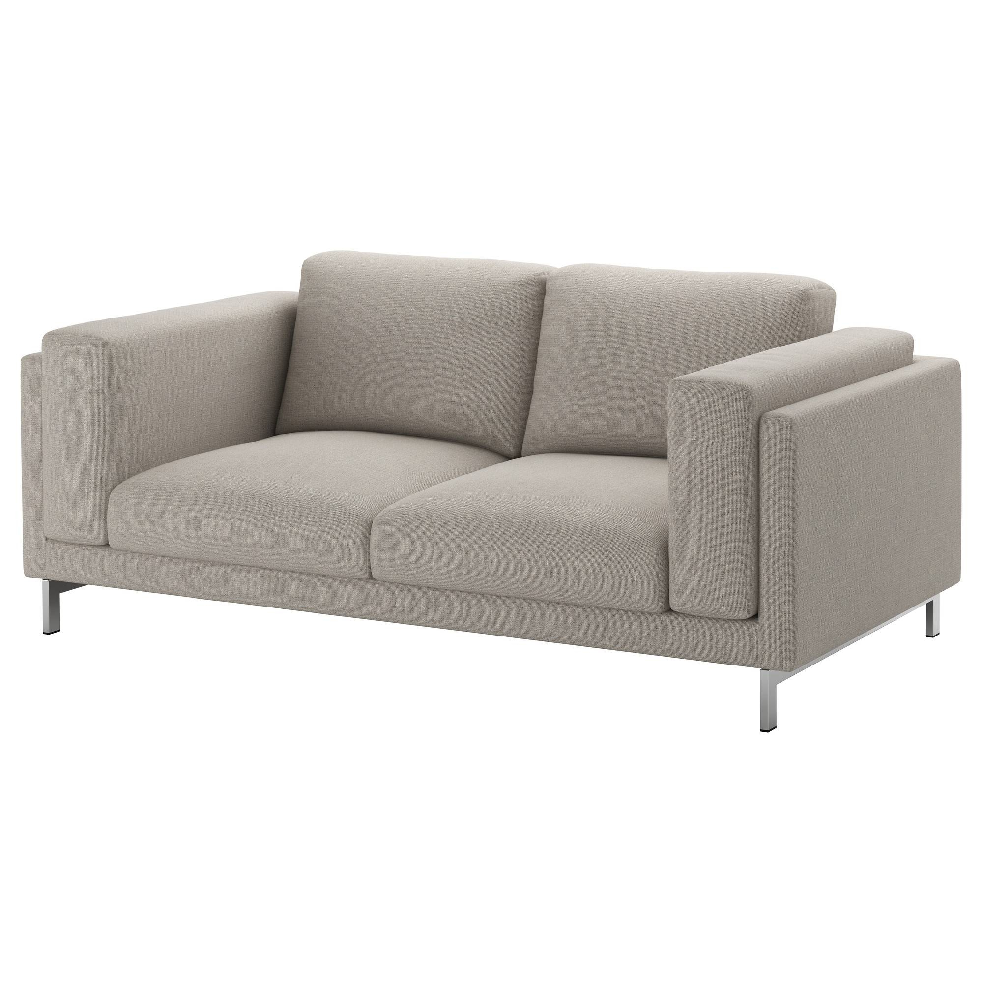 Nockeby Two-Seat Sofa Tenö Light Grey/chrome-Plated - Ikea regarding Ikea Two Seater Sofas (Image 17 of 30)