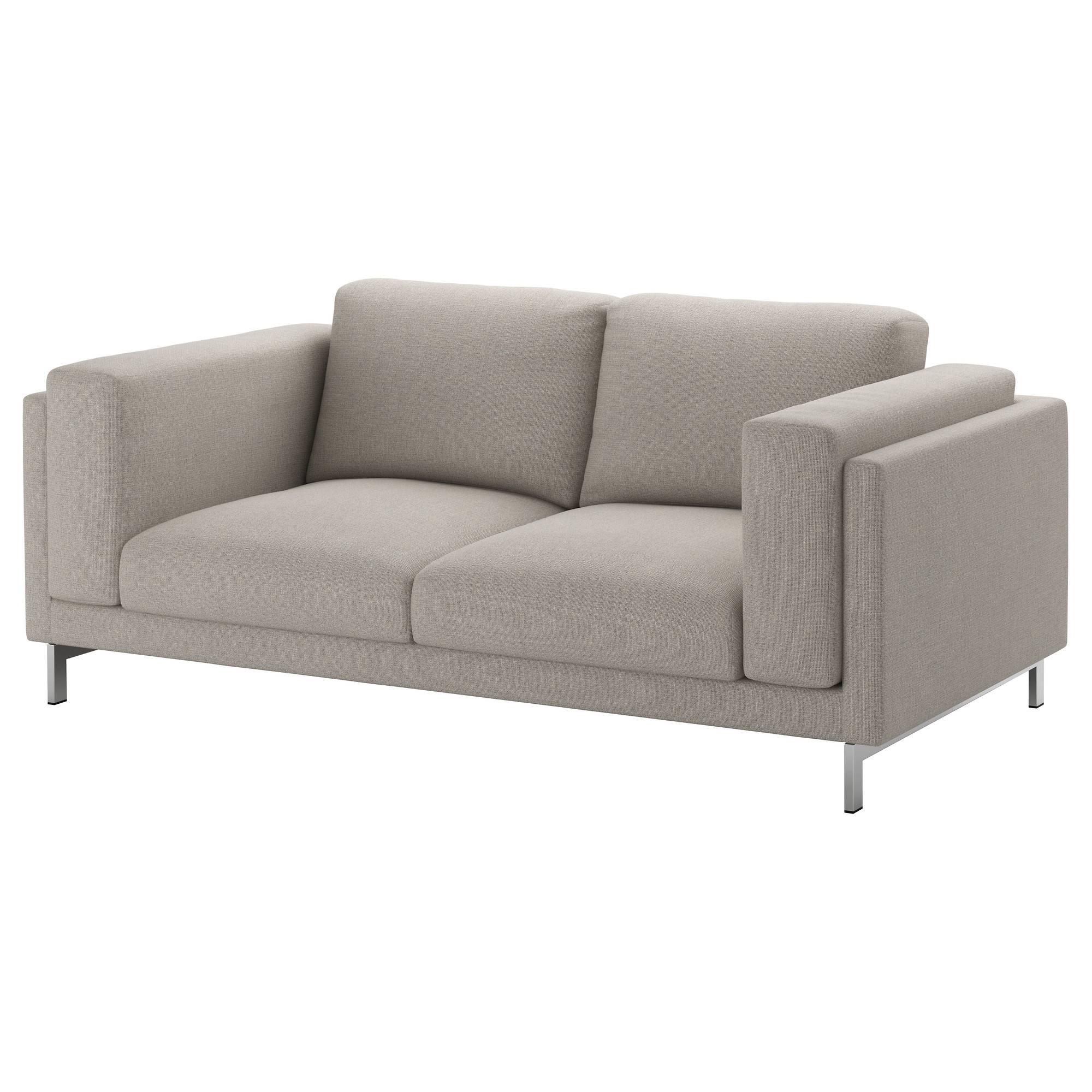 Nockeby Two-Seat Sofa Tenö Light Grey/chrome-Plated - Ikea regarding Ikea Two Seater Sofas (Image 17 of 30)
