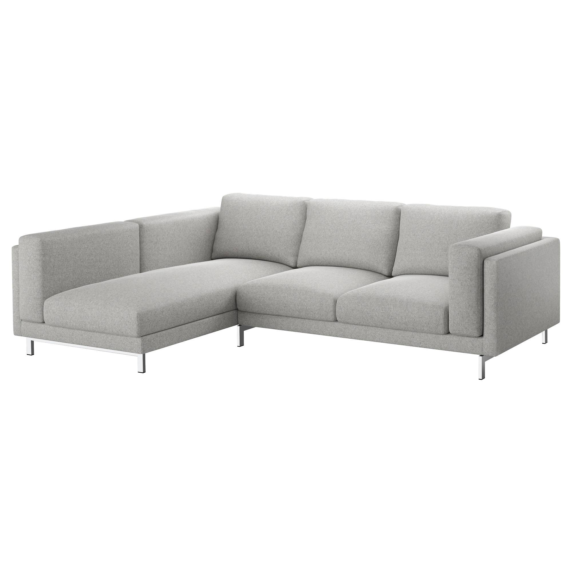 Nockeby Two-Seat Sofa W Chaise Longue Left Tallmyra White/black throughout Sofas With Chaise Longue (Image 20 of 30)