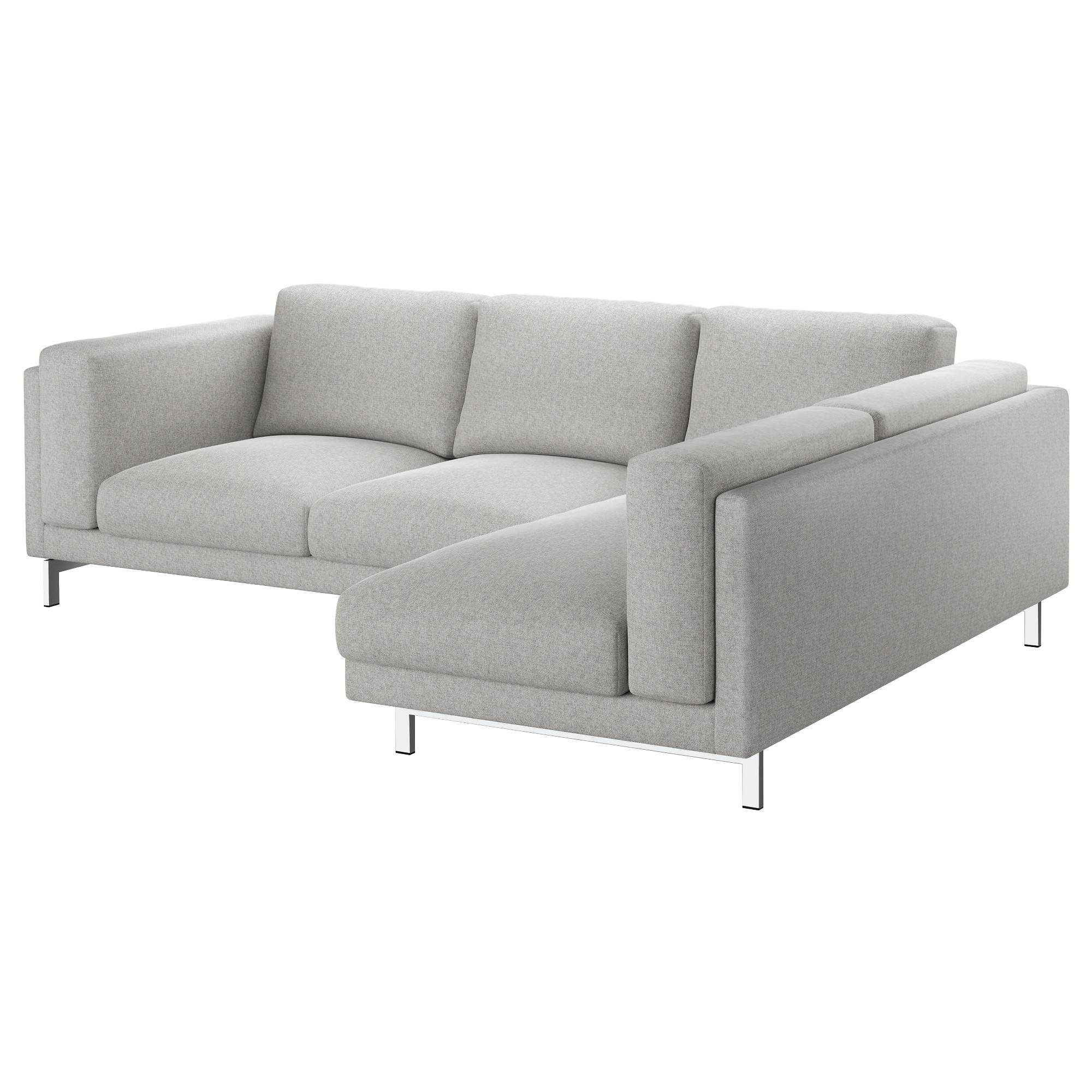 Nockeby Two-Seat Sofa W Chaise Longue Right Tallmyra White/black intended for Ikea Two Seater Sofas (Image 19 of 30)