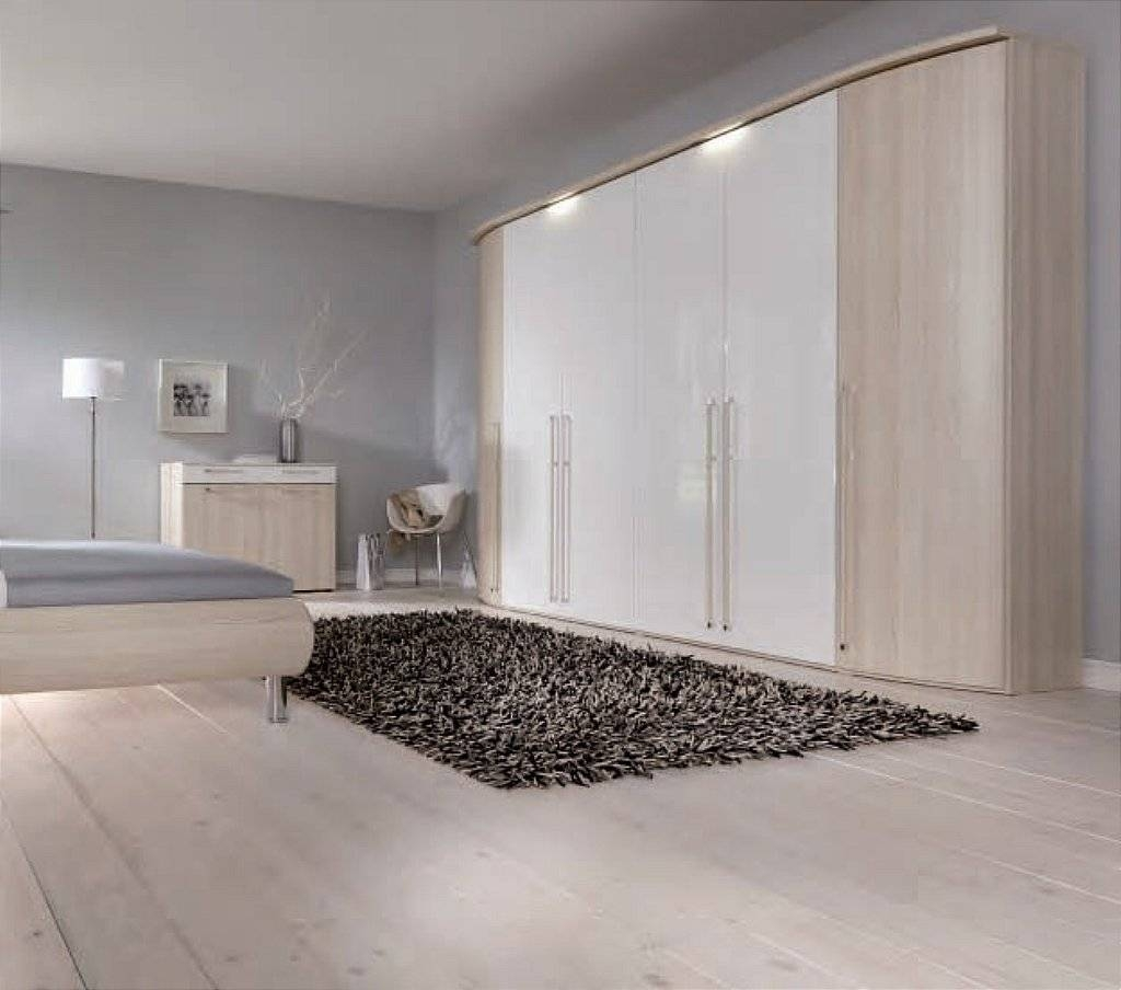 Nolte – Columbus Wardrobe In Satin Ash – White Gloss For Wardrobes White Gloss (View 10 of 15)