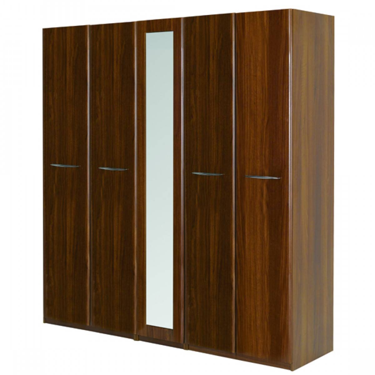 Nonso Triple(3)-Door Wardrobe + Drawers In Maple Wood Finish in 5 Door Mirrored Wardrobes (Image 13 of 15)