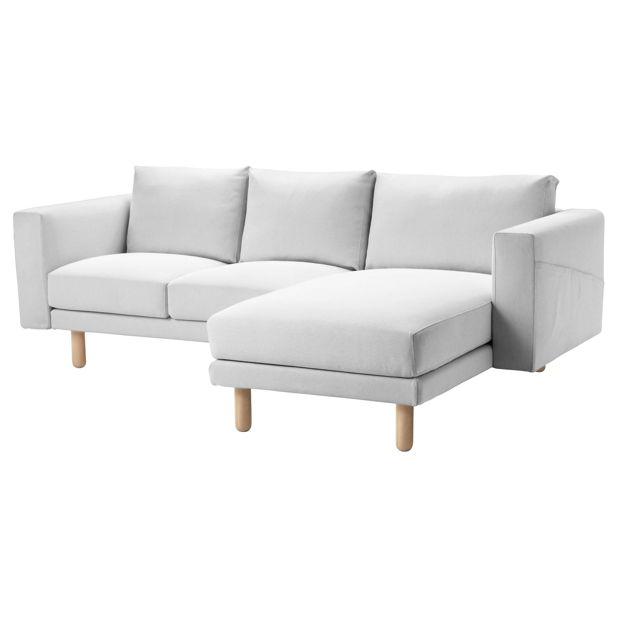 Norsborg Two-Seat Sofa With Chaise Longue Finnsta White/birch - Ikea in Ikea Chaise Lounge Sofa (Image 26 of 30)