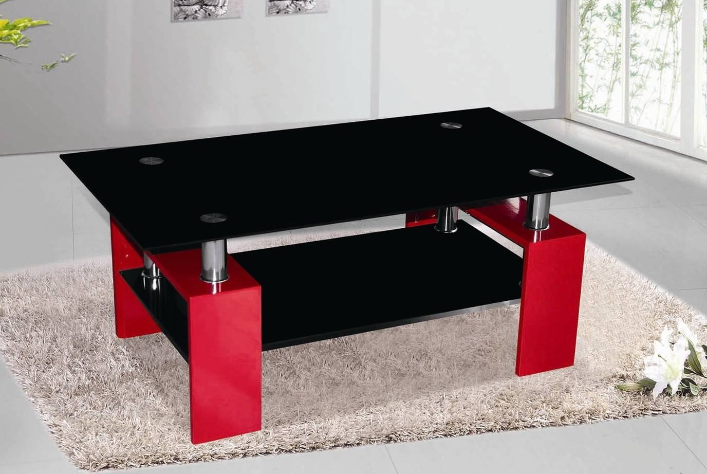 North Shore Furniture Minimalist Modern Style Glass Coffee Table within Round Red Coffee Tables (Image 20 of 30)