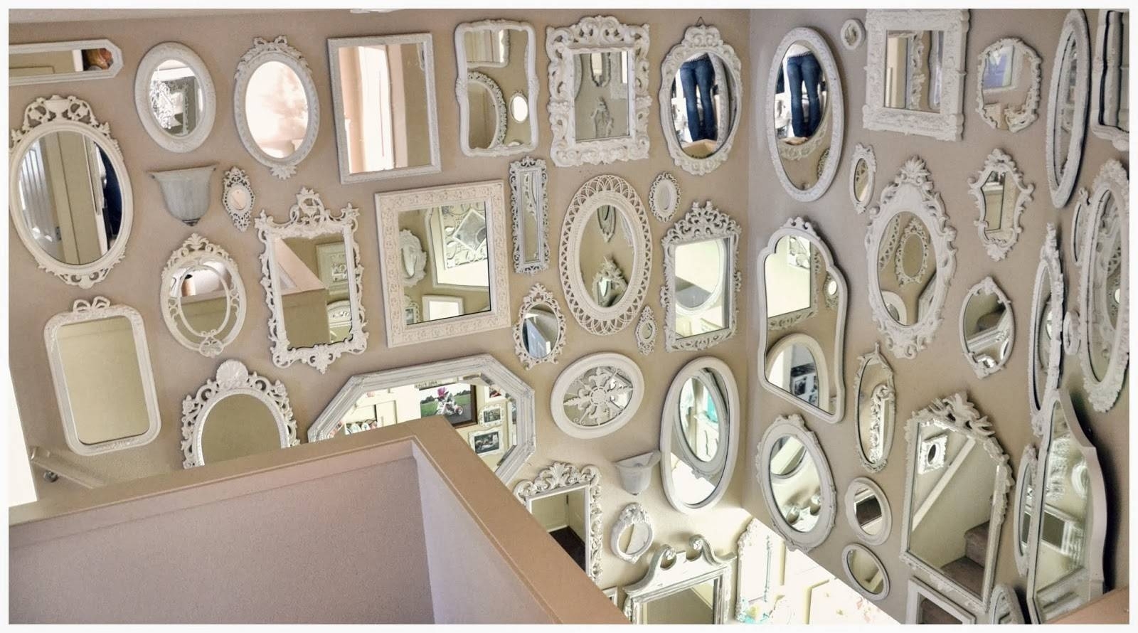Not So Shabby - Shabby Chic: Mirror Wall Is Almost Complete. intended for Shabby Chic Mirrors (Image 14 of 25)