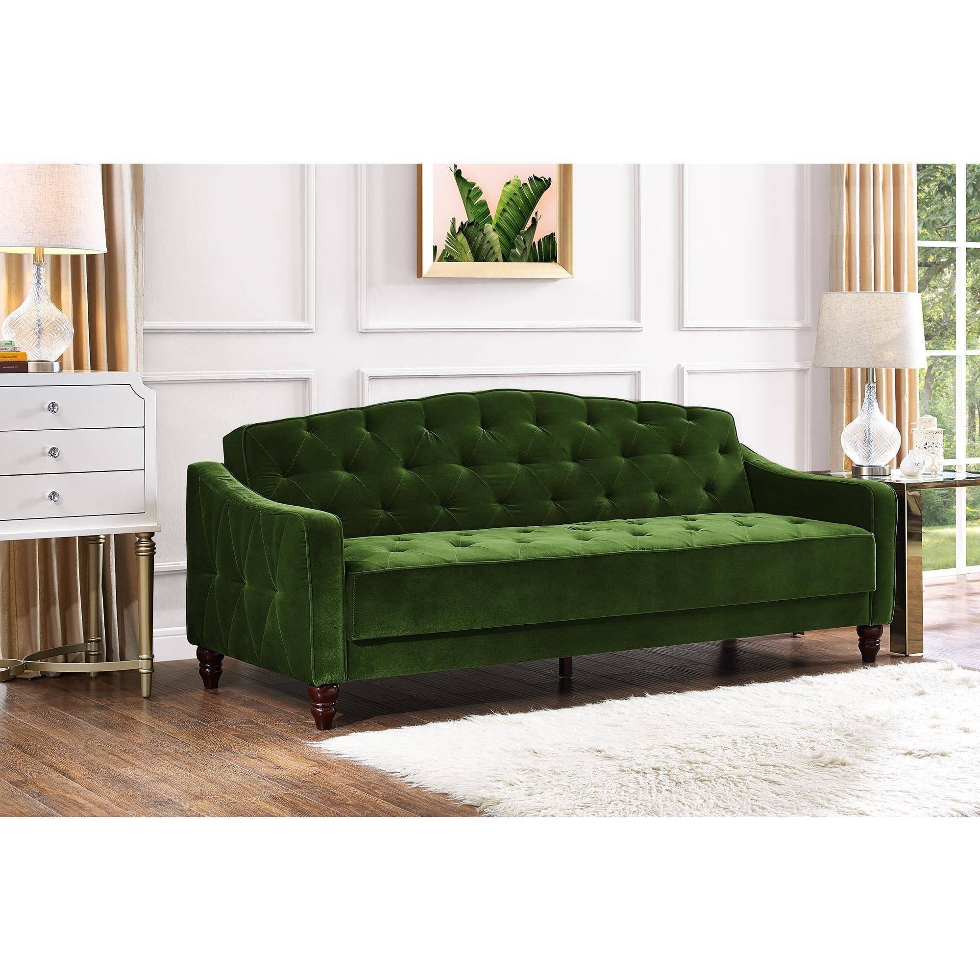 Novogratz Vintage Tufted Sofa Sleeper Ii, Multiple Colors regarding Blue Tufted Sofas (Image 23 of 30)