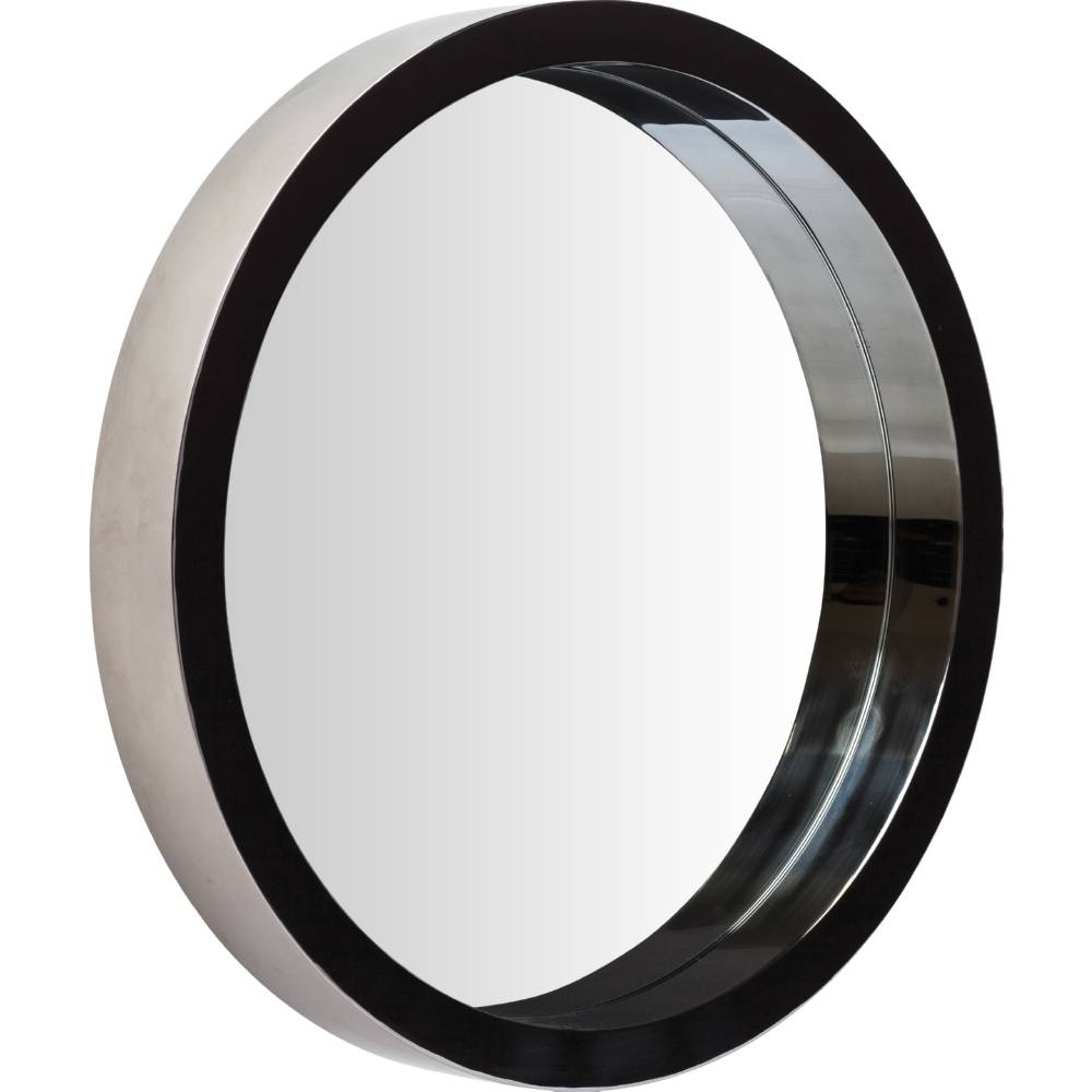 Nuevo Modern Furniture Hgde182 Julia Large Round Mirror In Black In Black Round Mirrors (View 22 of 25)