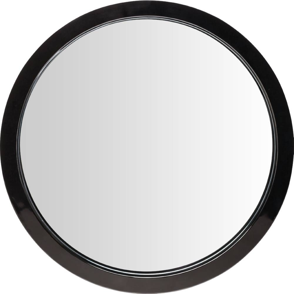 Nuevo Modern Furniture Hgde182 Julia Large Round Mirror In Black In Round Black Mirrors (Photo 3 of 25)