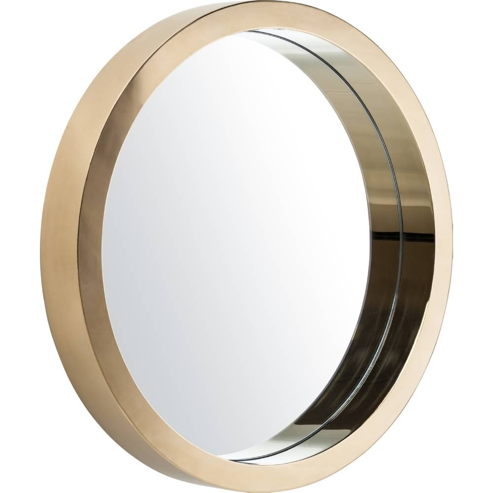 Nuevo Modern Furniture Hgde183 Julia Large Round Mirror In Gold inside Gold Round Mirrors (Image 17 of 25)
