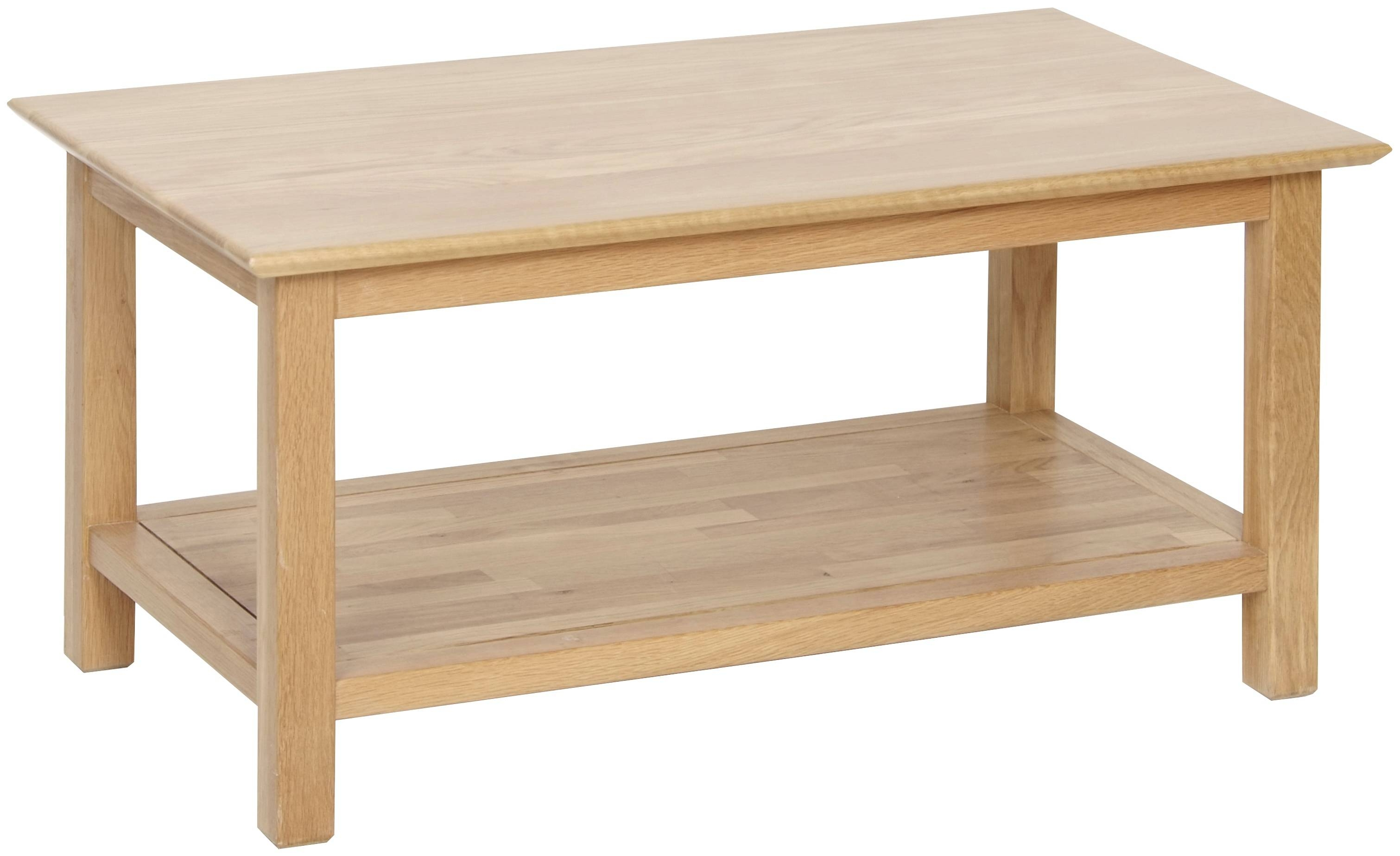 Oak Coffee Table View More Details A Solid Friendly Oak Coffee with Oak Coffee Tables With Shelf (Image 16 of 30)
