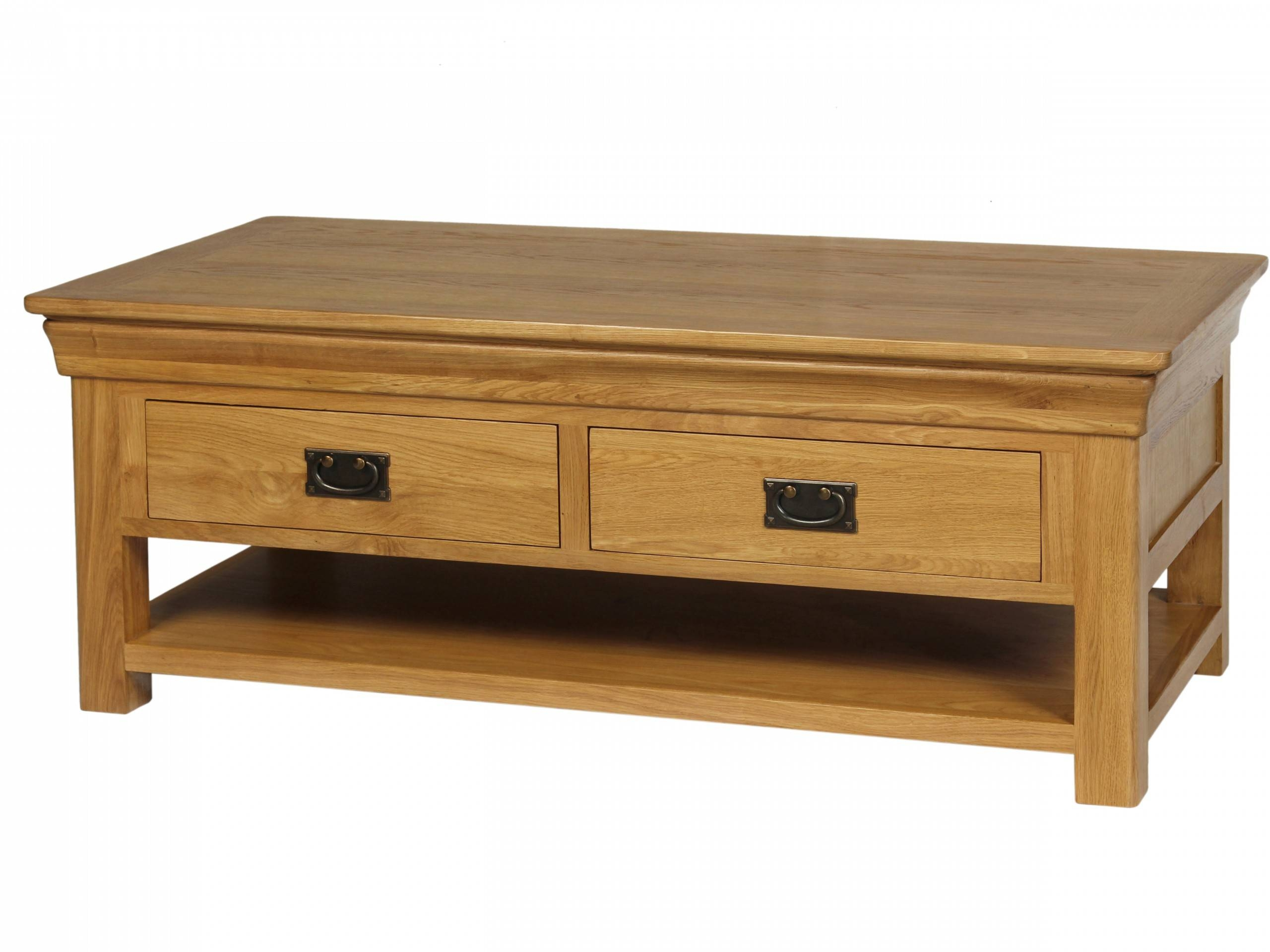 Oak Coffee Table View More Details A Solid Friendly Oak Coffee within Oak Coffee Tables With Shelf (Image 17 of 30)