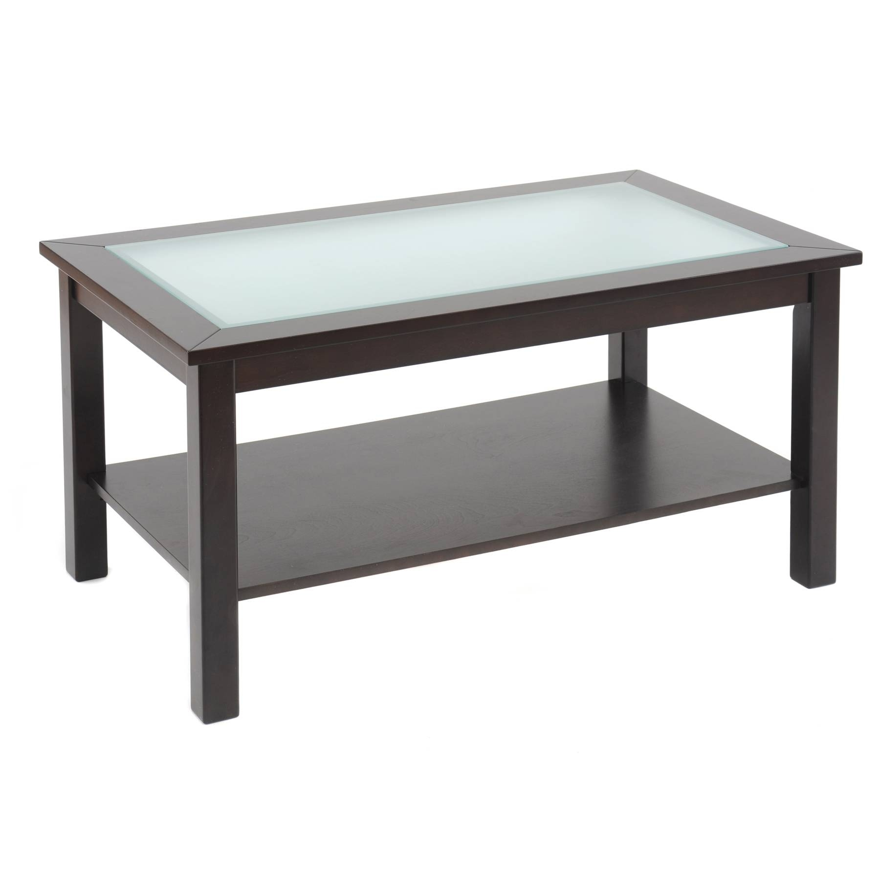 Oak Coffee Table With Black Glass Top | Coffee Tables Decoration throughout Dark Wood Coffee Tables With Glass Top (Image 17 of 30)