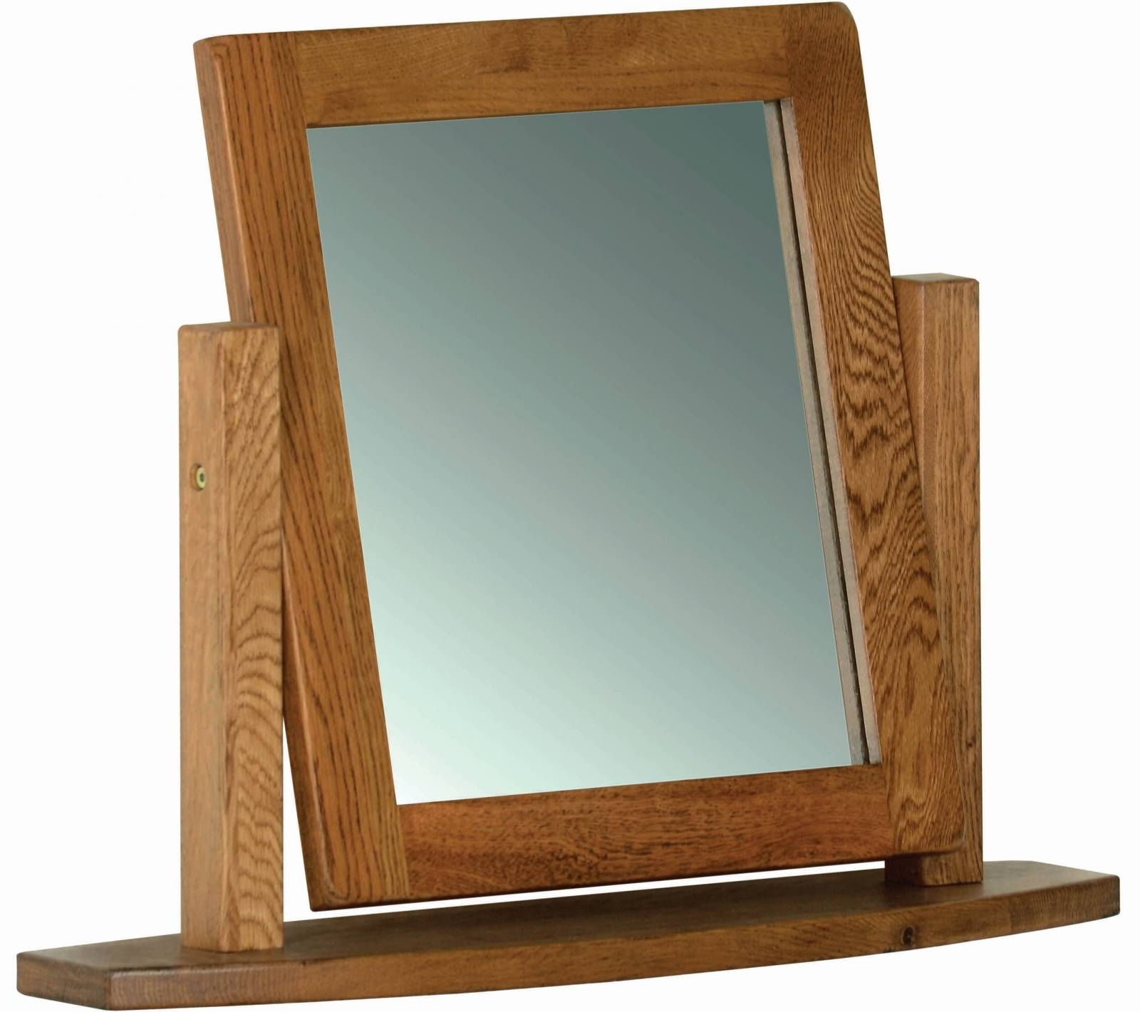 Oak Dressing Table Mirror - Oak - Mirrors - Pine Shop Bury regarding Rustic Oak Mirrors (Image 10 of 25)