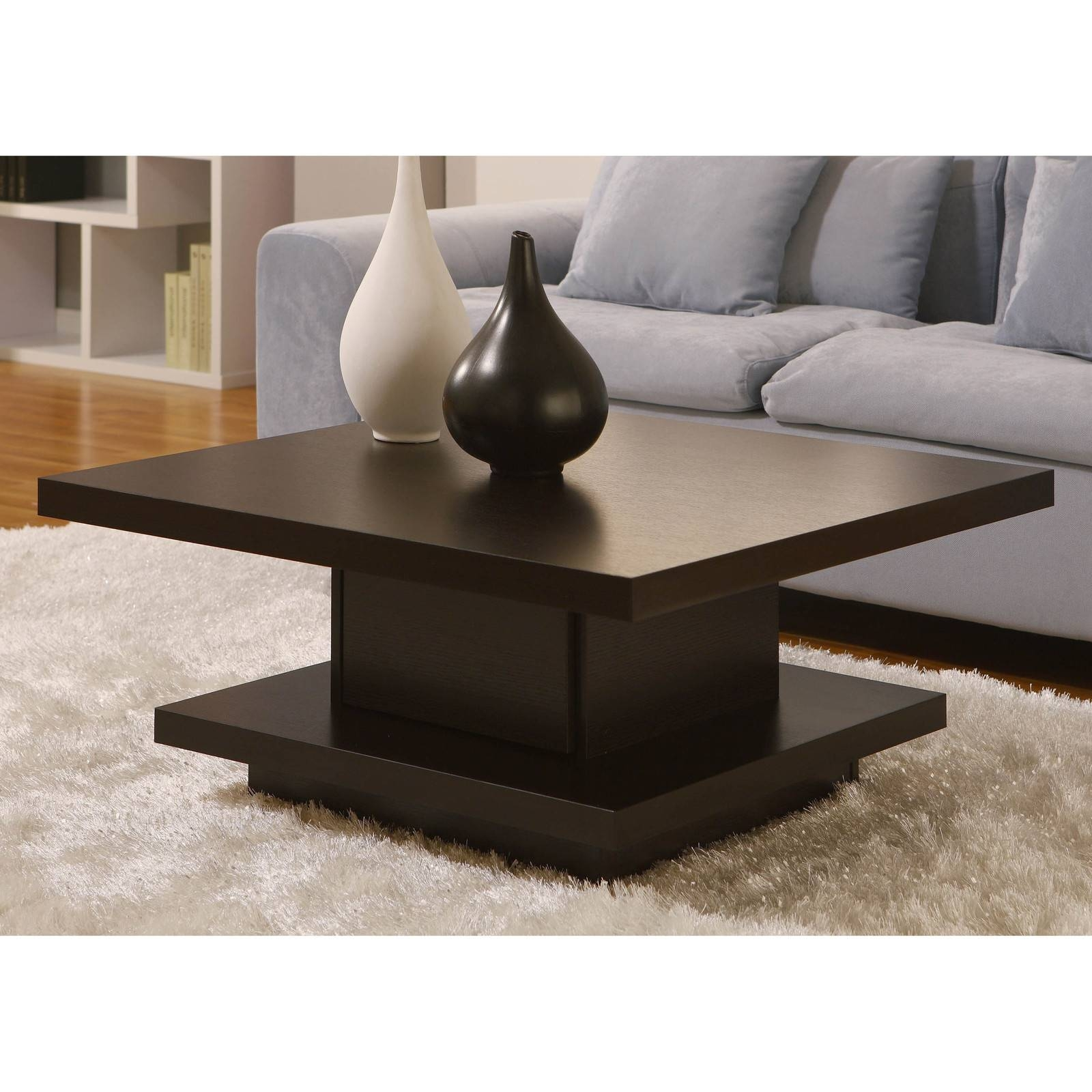 Oak Flat Coffee Tables Contemporary Wooden Coffee Tables Low Level for Square Shaped Coffee Tables (Image 20 of 30)