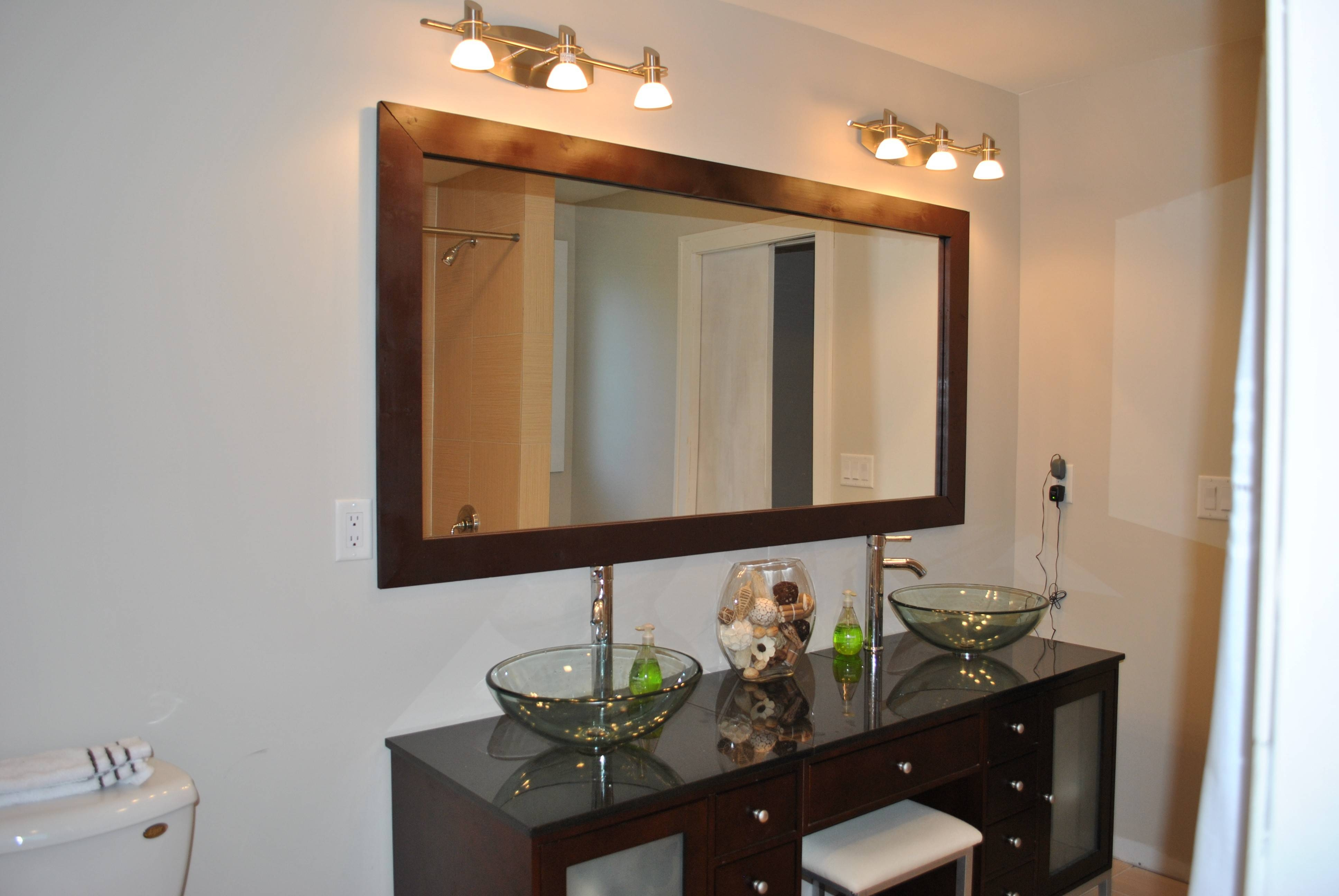 Oak Framed Bathroom Mirrors 118 Stunning Decor With Small Vanity with Large Oak Framed Mirrors (Image 10 of 25)