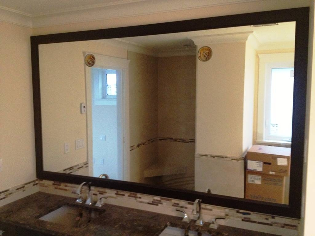Oak Framed Bathroom Mirrors : How To Diy Framing Bathroom Mirror throughout Large Oak Framed Mirrors (Image 12 of 25)