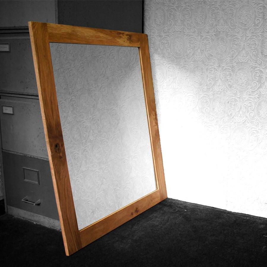 Oak Framed Mirror - Large throughout Large Oak Mirrors (Image 13 of 25)