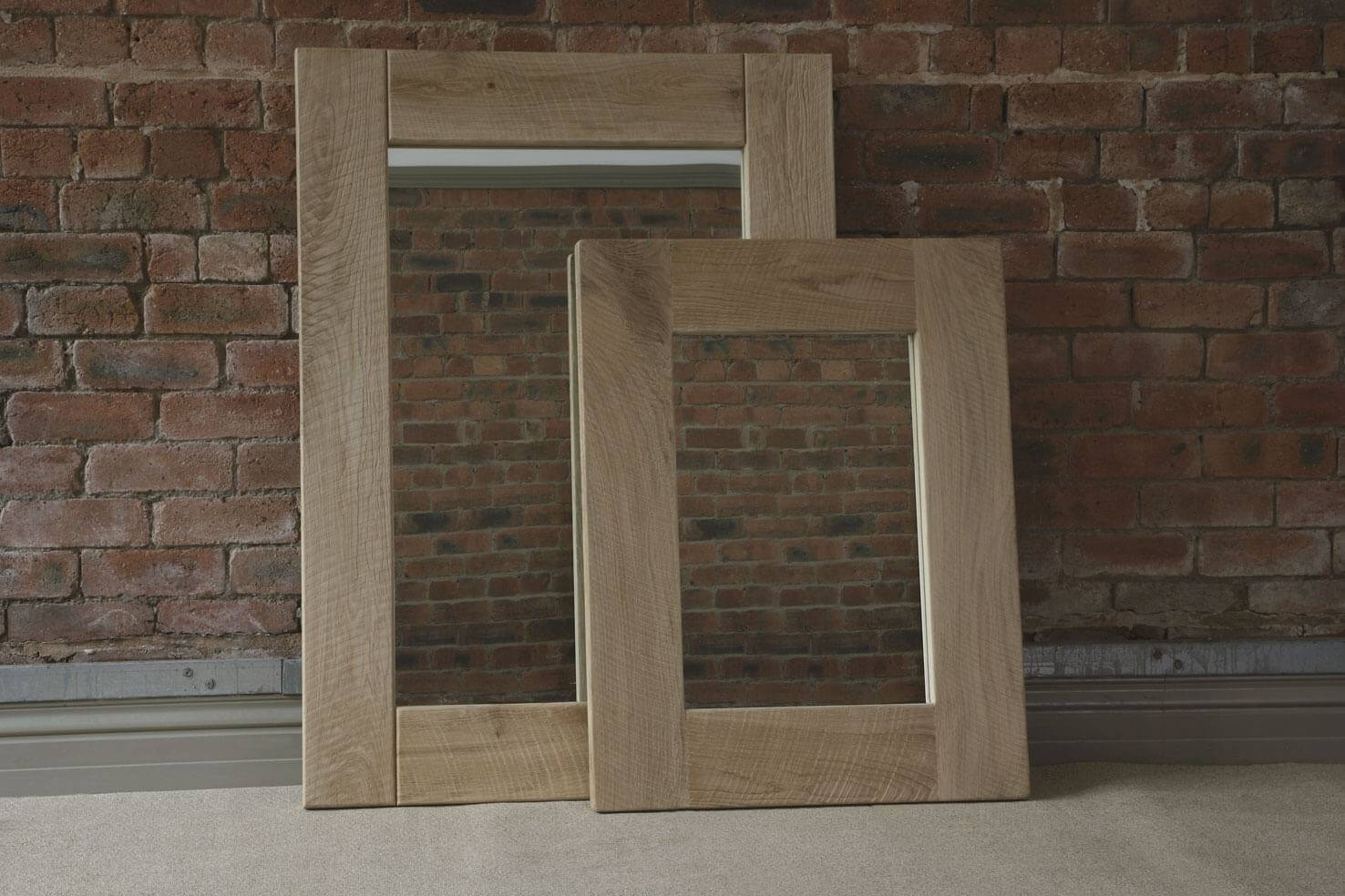 Oak Mirror, Handcraftedindigo Furniture for Large Oak Mirrors (Image 19 of 25)