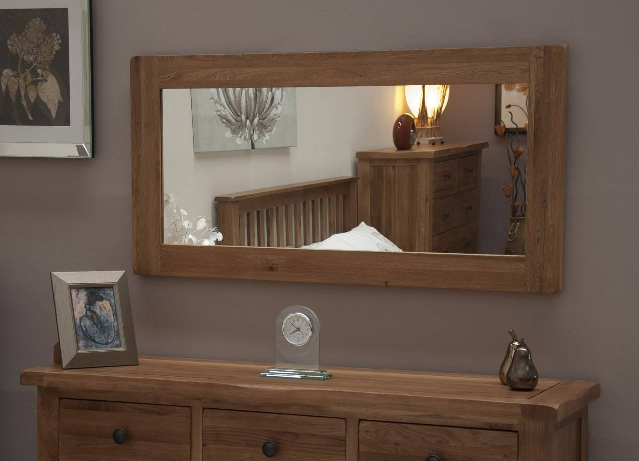 Oak Mirrors | Oak Furniture Uk with regard to Large Oak Mirrors (Image 20 of 25)