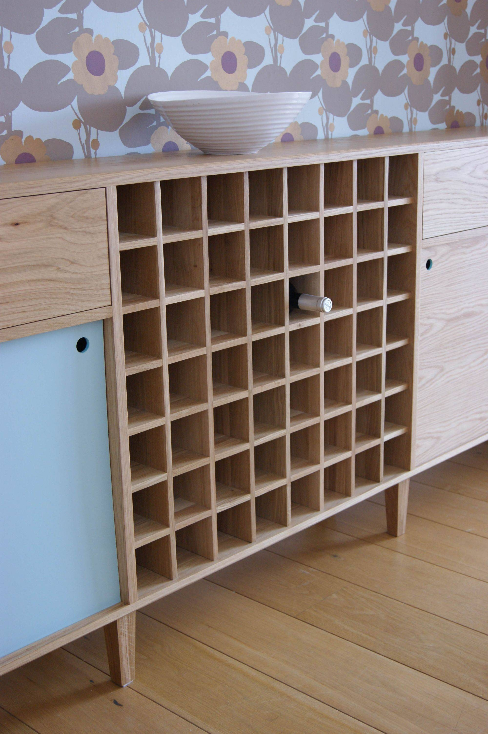 Oak Sideboard With Wine Rack - Mijmoj throughout Sideboards With Wine Racks (Image 11 of 30)
