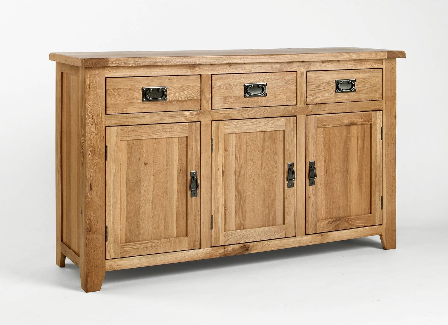 Oak Sideboards | Large Stocks And Quick Uk Delivery throughout Real Wood Sideboards (Image 7 of 30)