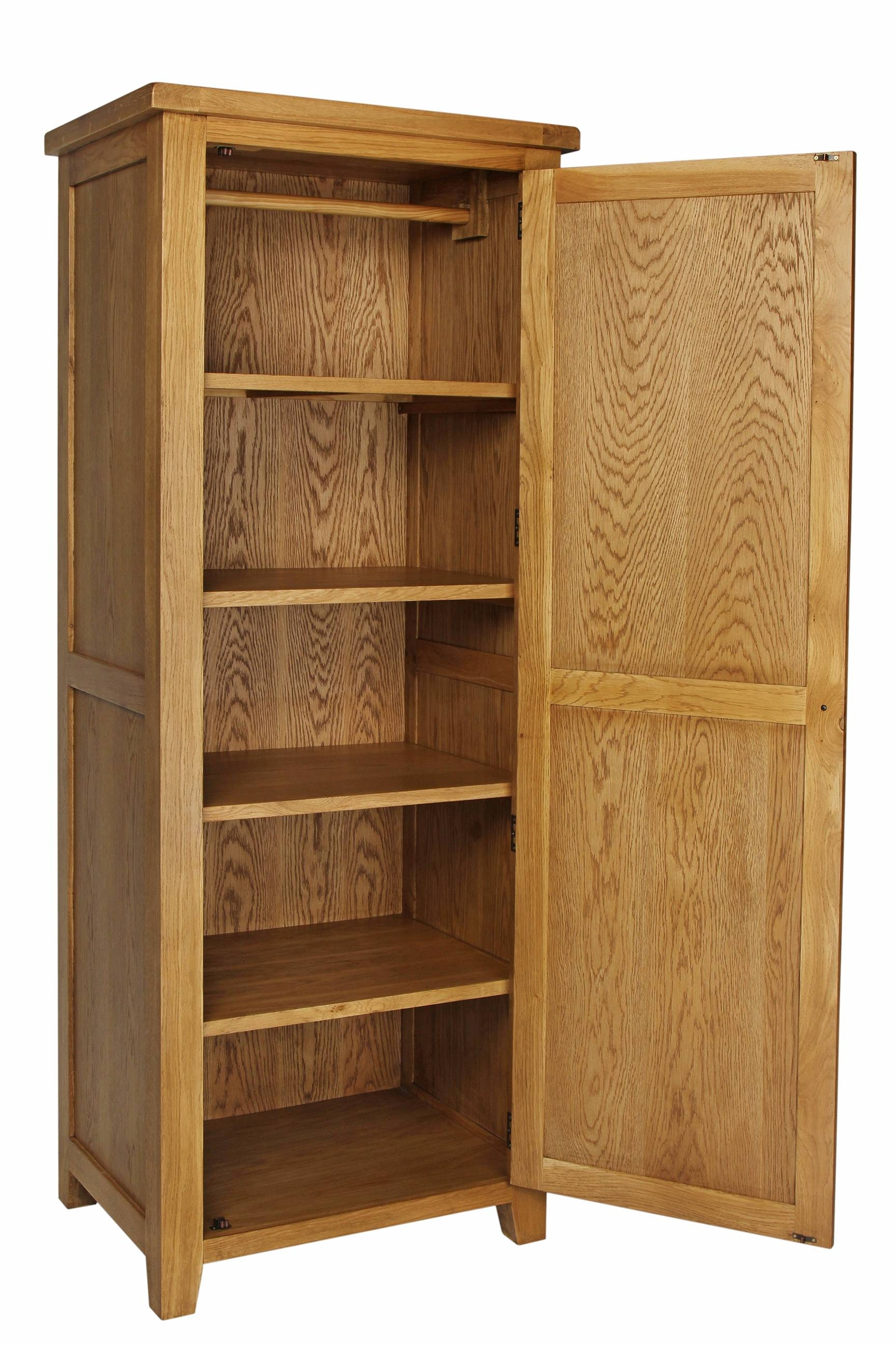 Oak Single Wardrobe – Furniture Importers For Single Oak Wardrobes With Drawers (View 8 of 15)