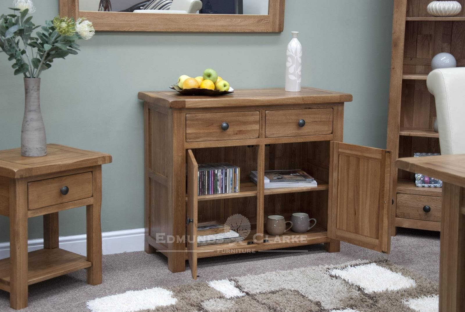 Oak Small Sideboard - Solid Wood & Painted Made To Measure for Real Wood Sideboards (Image 9 of 30)