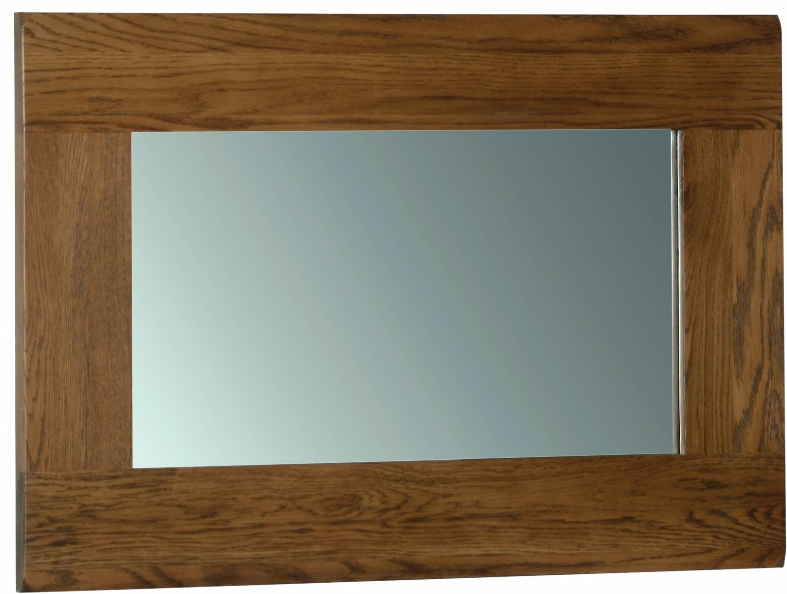 Oak Wall Mirror 900 X 600 - Oak - Mirrors - Pine Shop Bury within Rustic Oak Mirrors (Image 15 of 25)