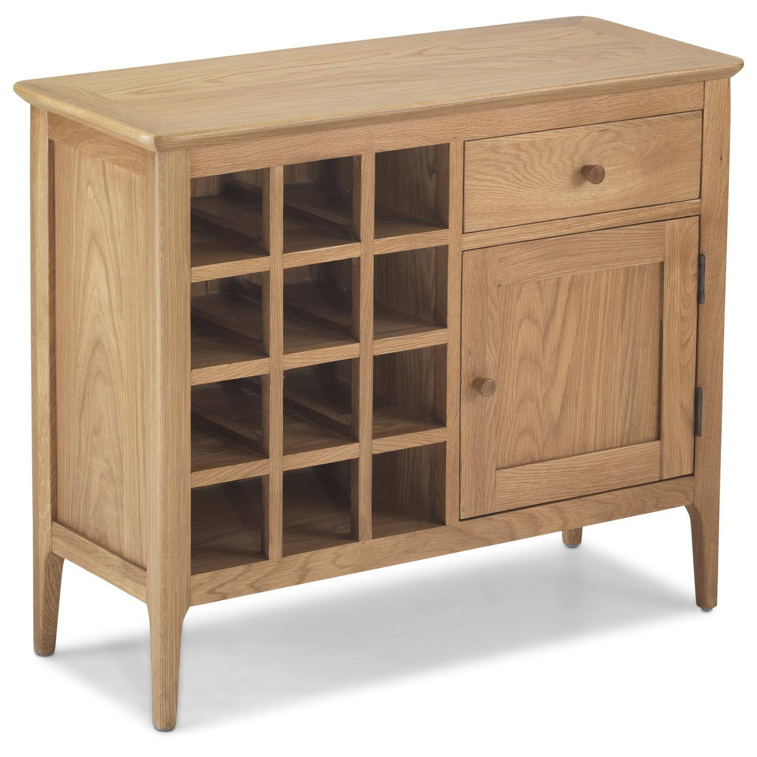 Oak Wine Rack Sideboard - Oak Sideboards For The Kitchen, Dining with Oak Sideboards With Wine Rack (Image 11 of 30)