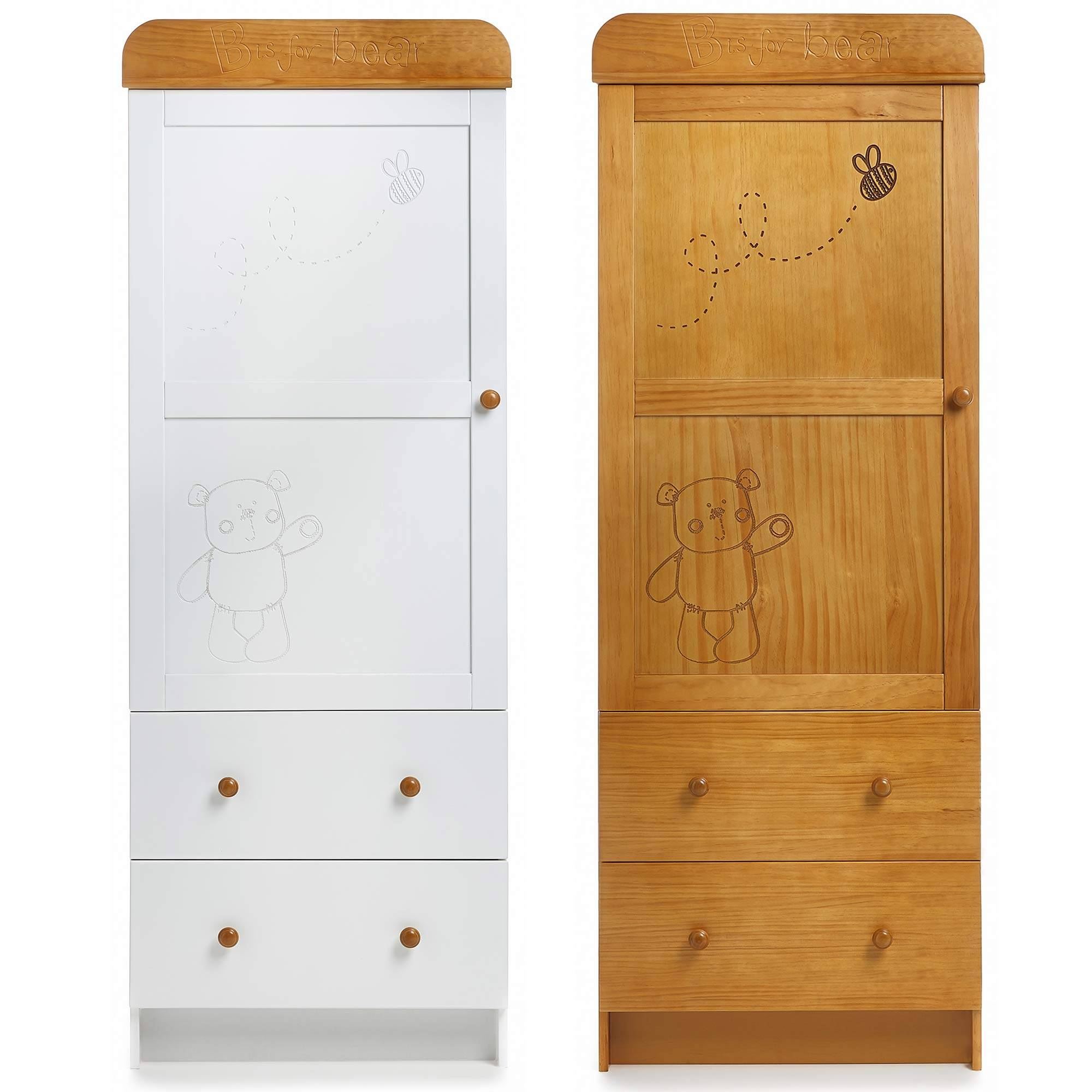 Obaby B Is For Bear Single Wardrobe Baby Nursery/bedroom Wooden In Cheap Baby Wardrobes (View 26 of 30)