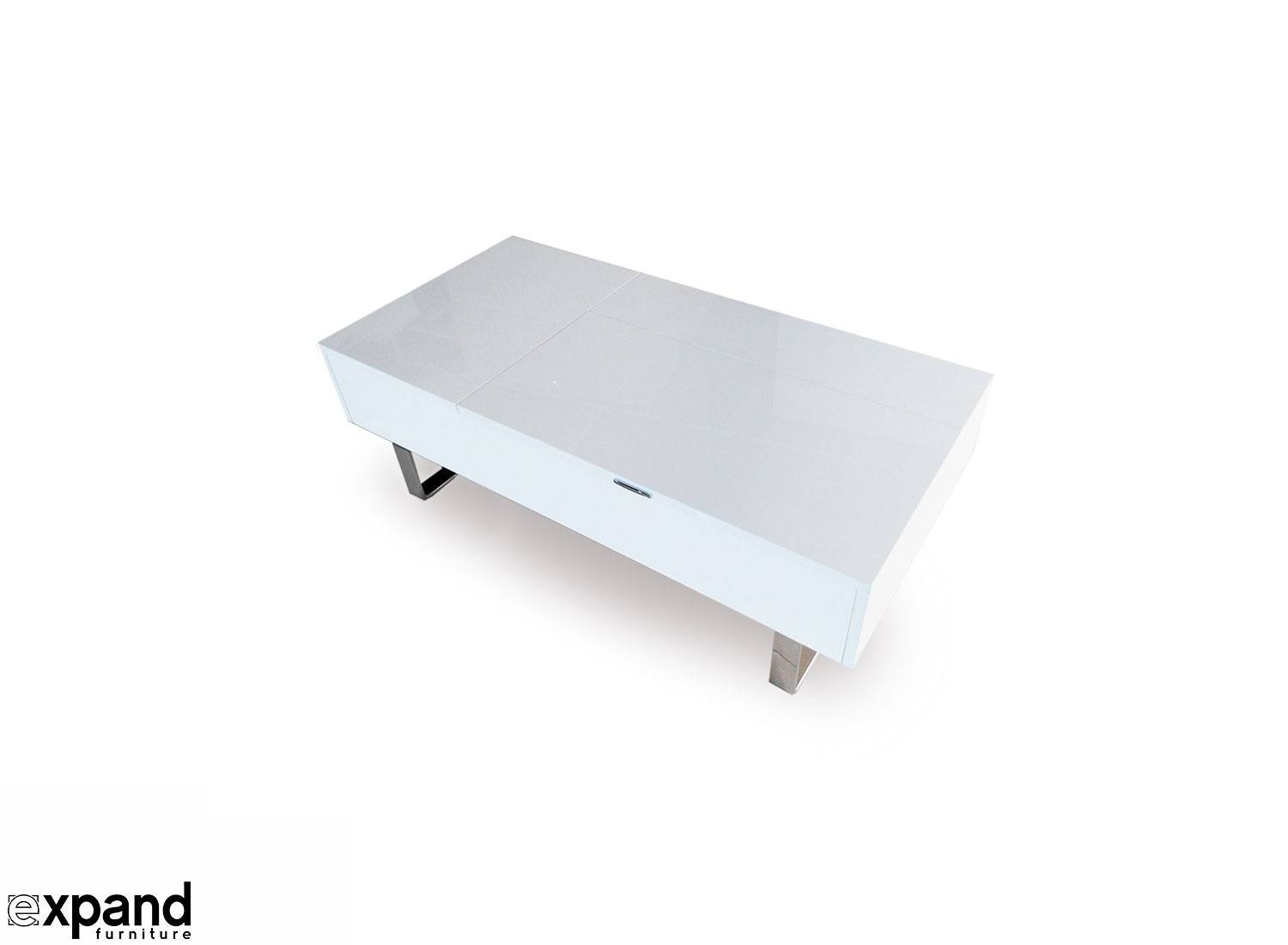 Occam Coffee Table With Lift Top | Expand Furniture for White Gloss Coffee Tables (Image 19 of 30)