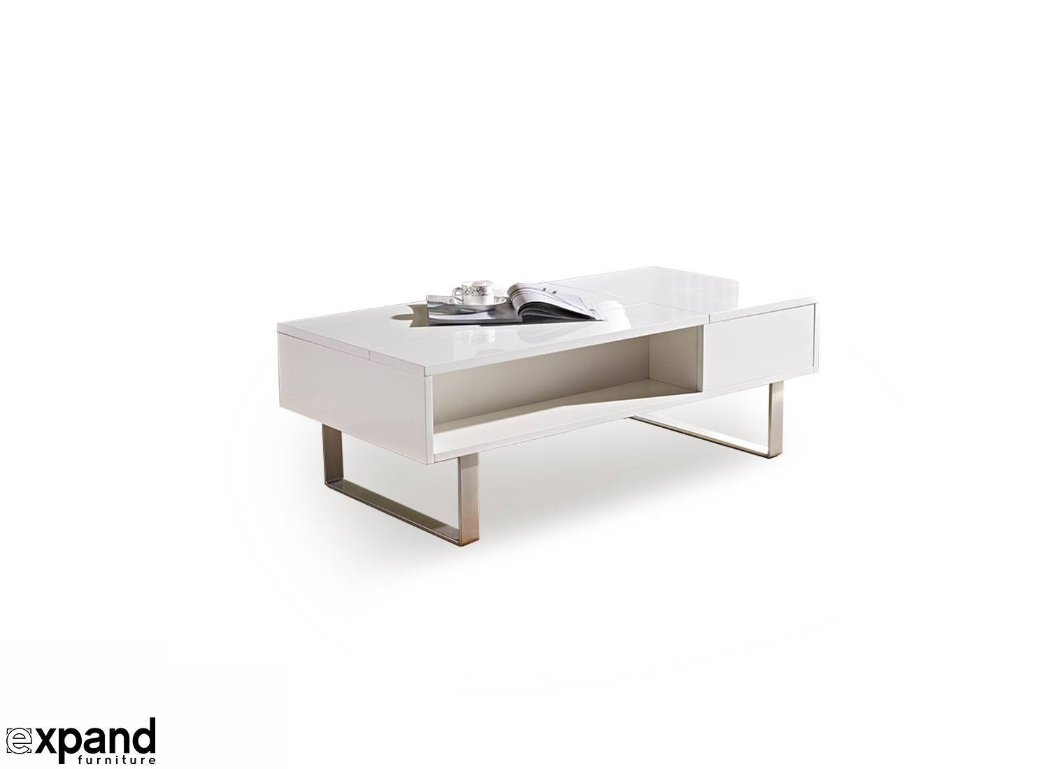 Occam Coffee Table With Lift Top | Expand Furniture throughout White and Chrome Coffee Tables (Image 22 of 30)