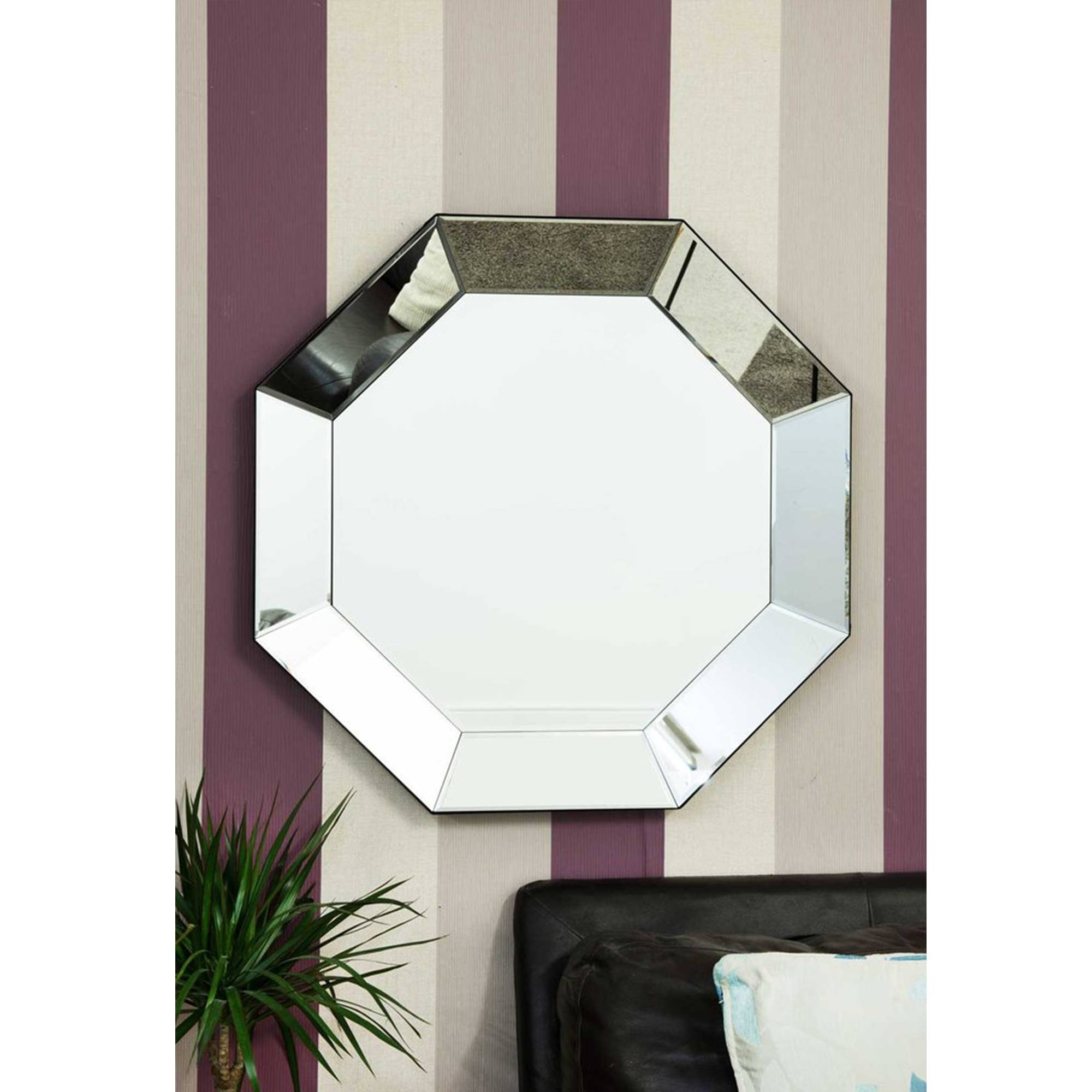 Octagan Tray Venetian Mirror | Decorative Glass Mirrors intended for Venetian Tray Mirrors (Image 16 of 25)