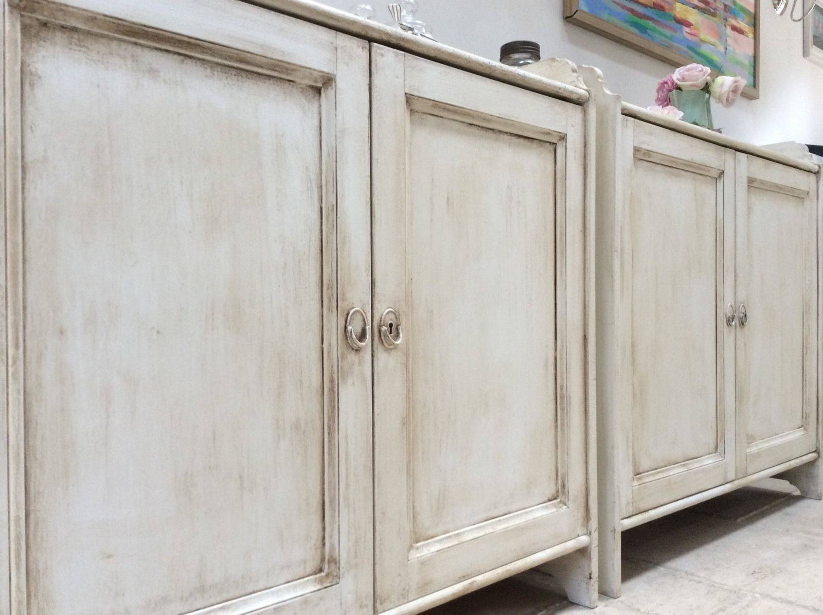 Of Pine Painted Cream Sideboard Freestanding Kitchen Unit Cupboard throughout Free Standing Kitchen Sideboards (Image 22 of 30)